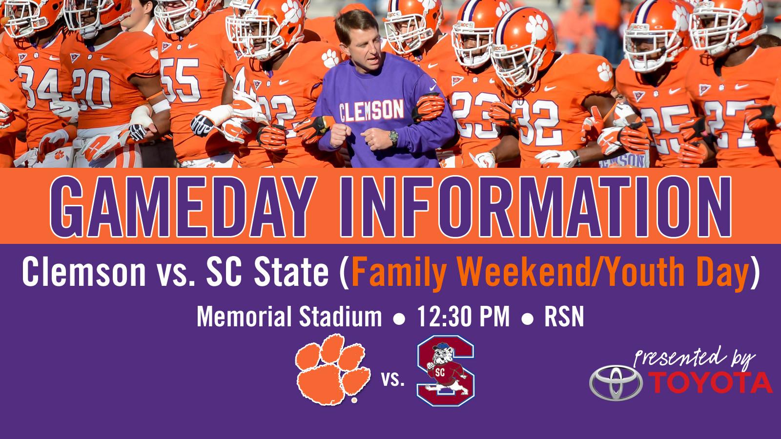 Clemson vs. SC State Football Gameday Information Guide
