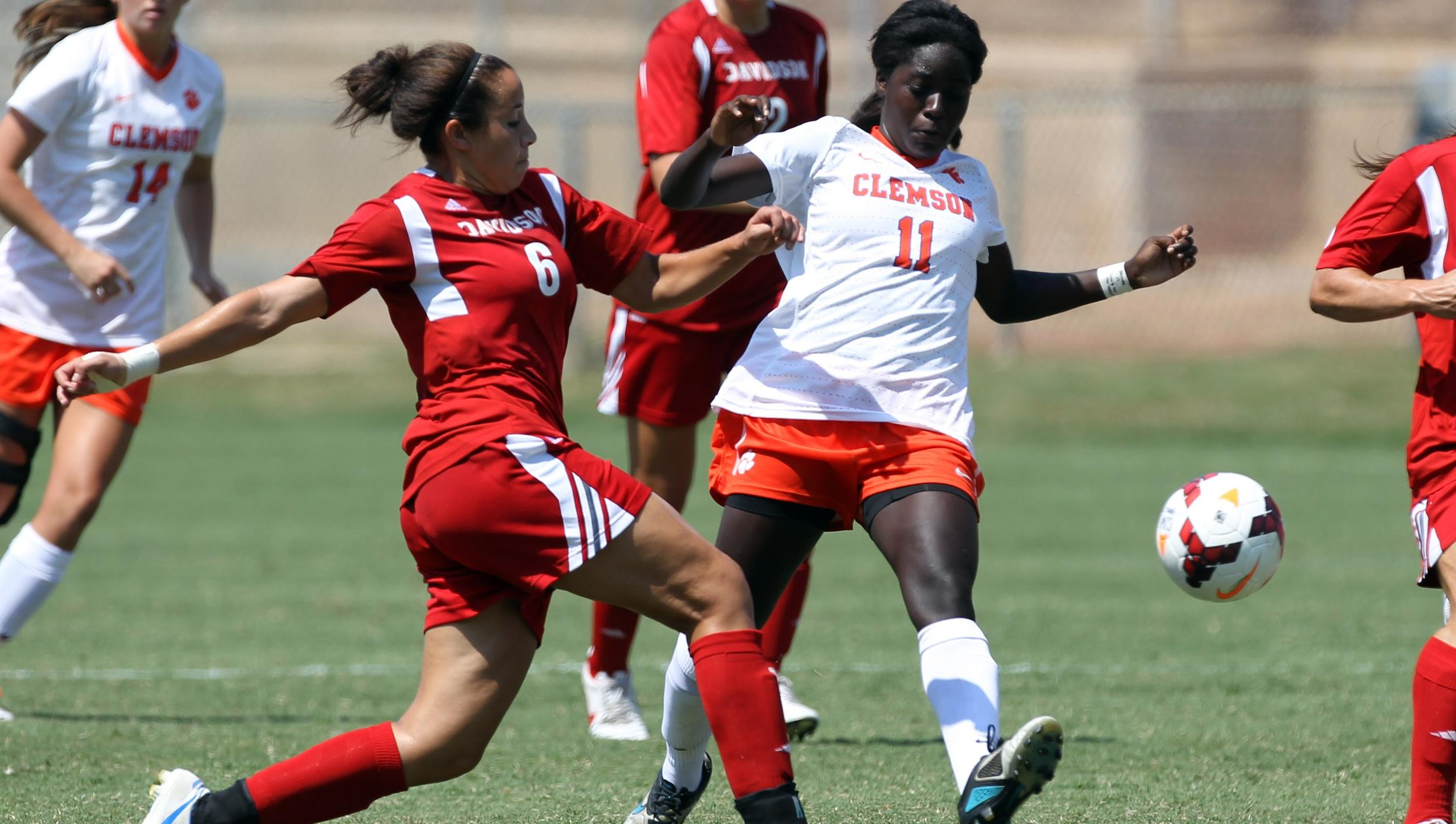 Atanda's Two Goals Propel Clemson to Victory over Davidson Sunday