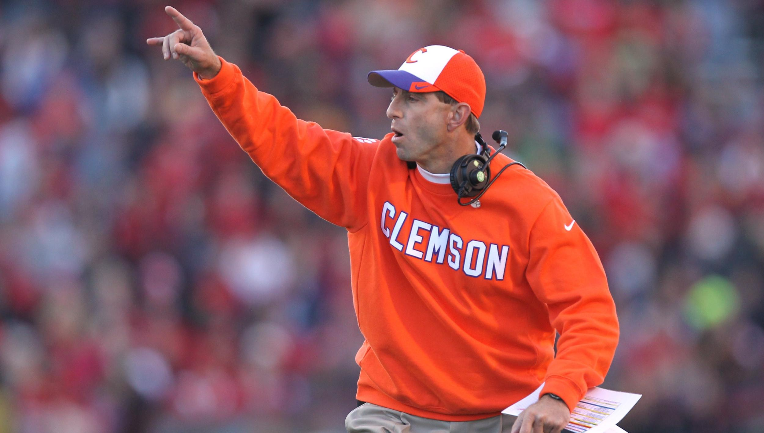 Swinney One of 10 Finalists for Liberty Mutual Coach of the Year