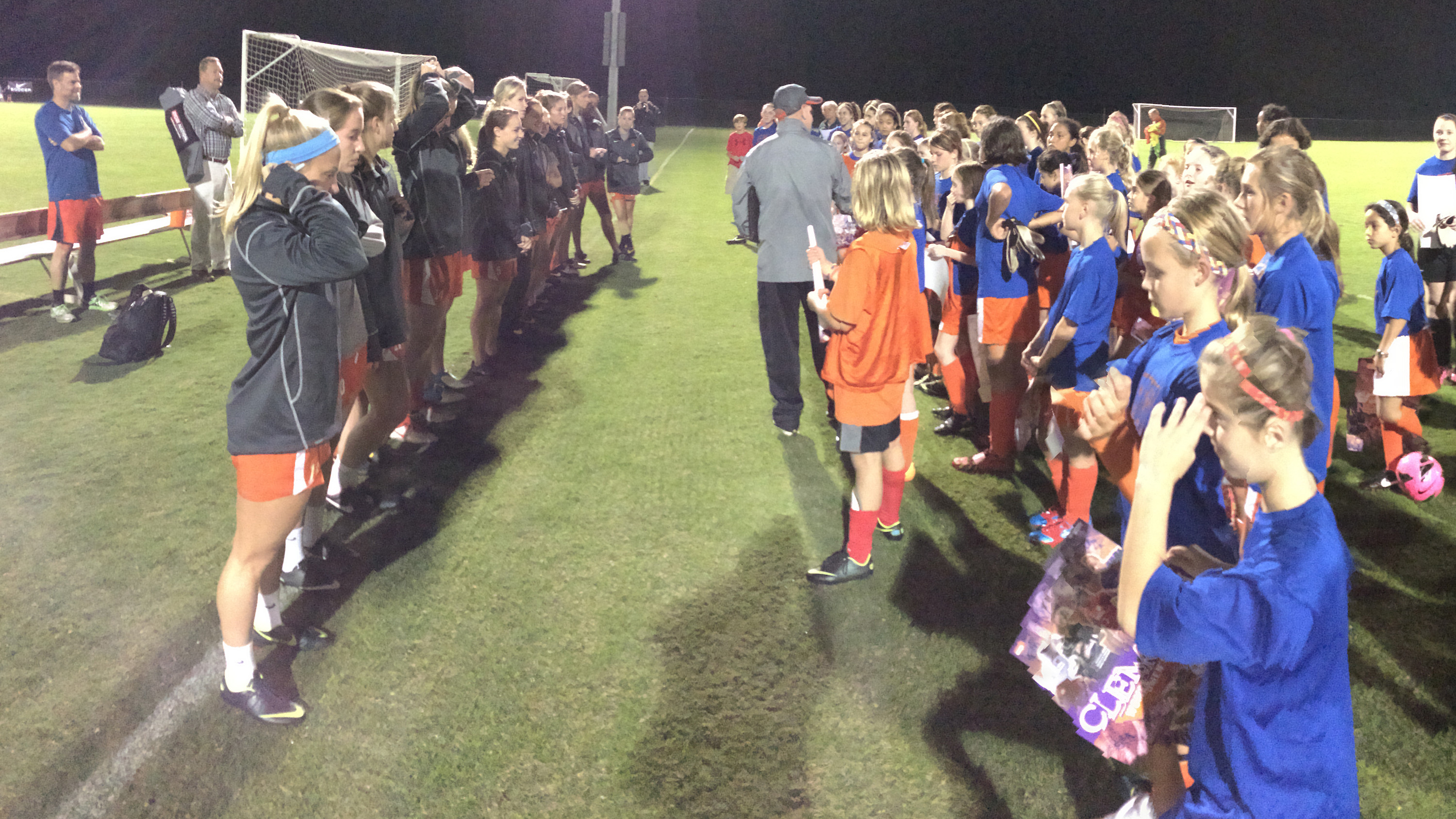 Clemson Women's Soccer Team Holds Youth Clinic