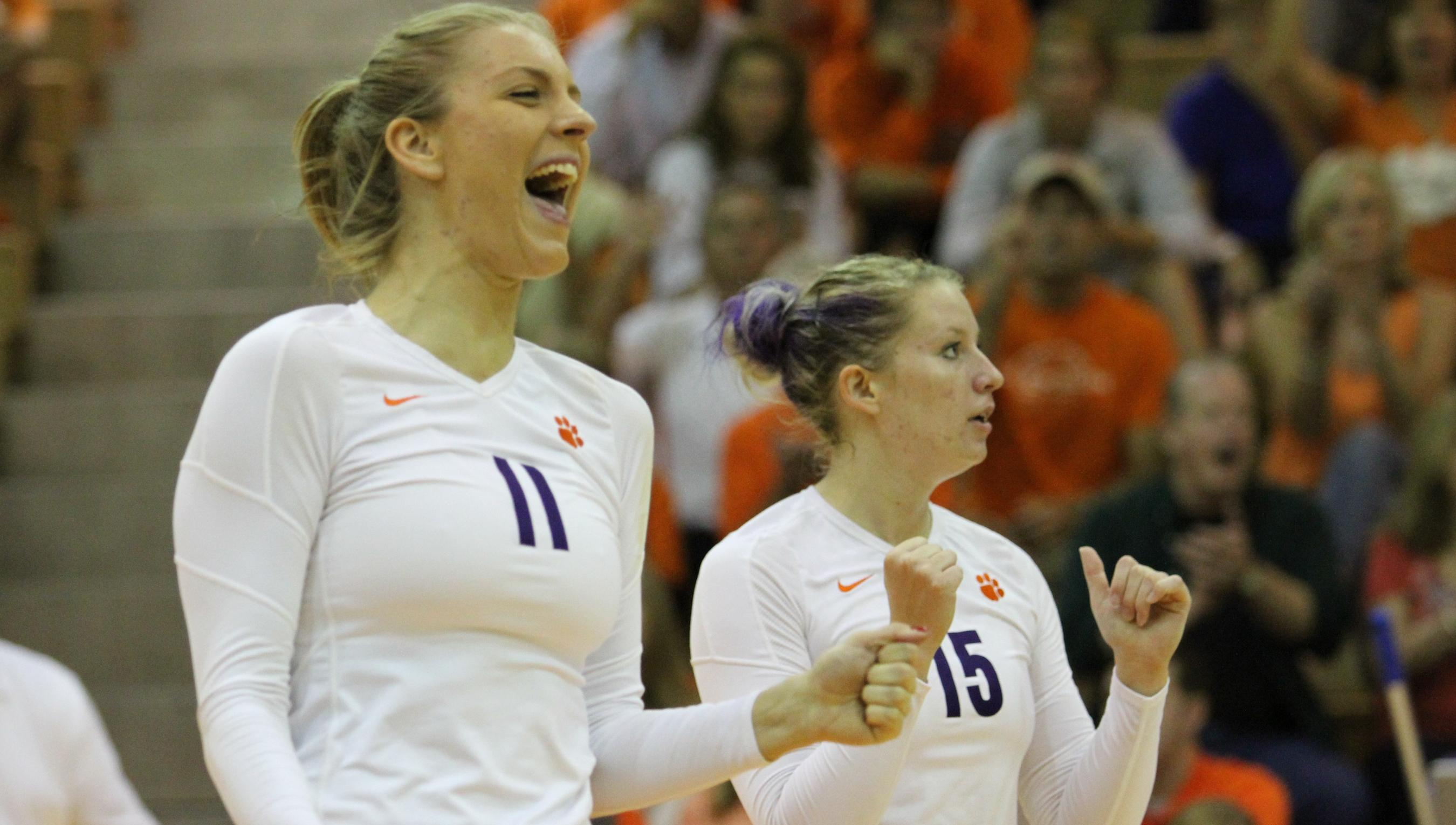 @ClemsonVB Travels to BC, Syracuse this Weekend