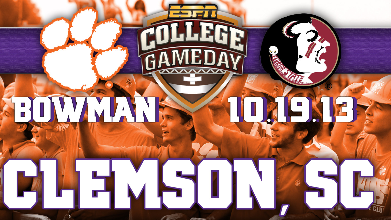 ESPN College GameDay Returning to Clemson on October 19