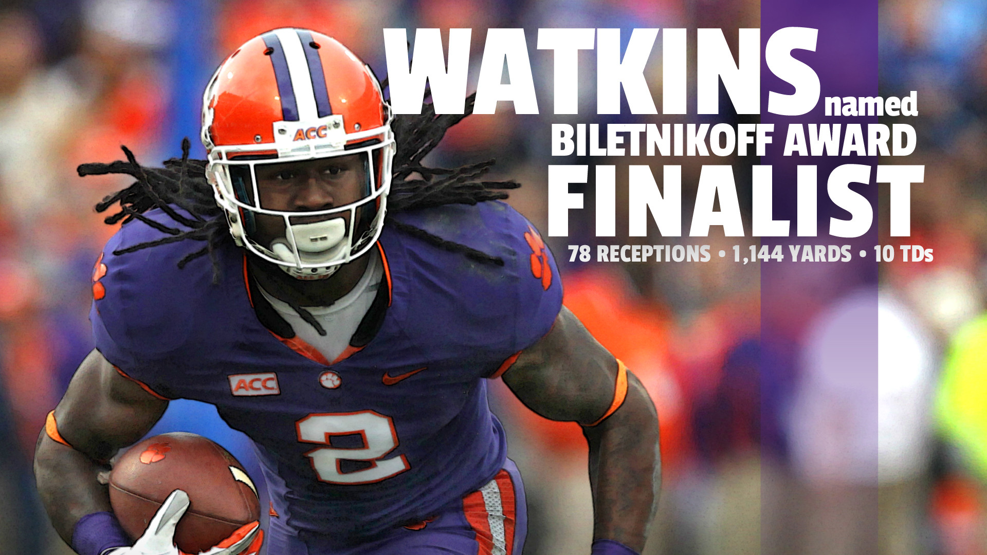 Watkins Finalist for Biletnikoff Award