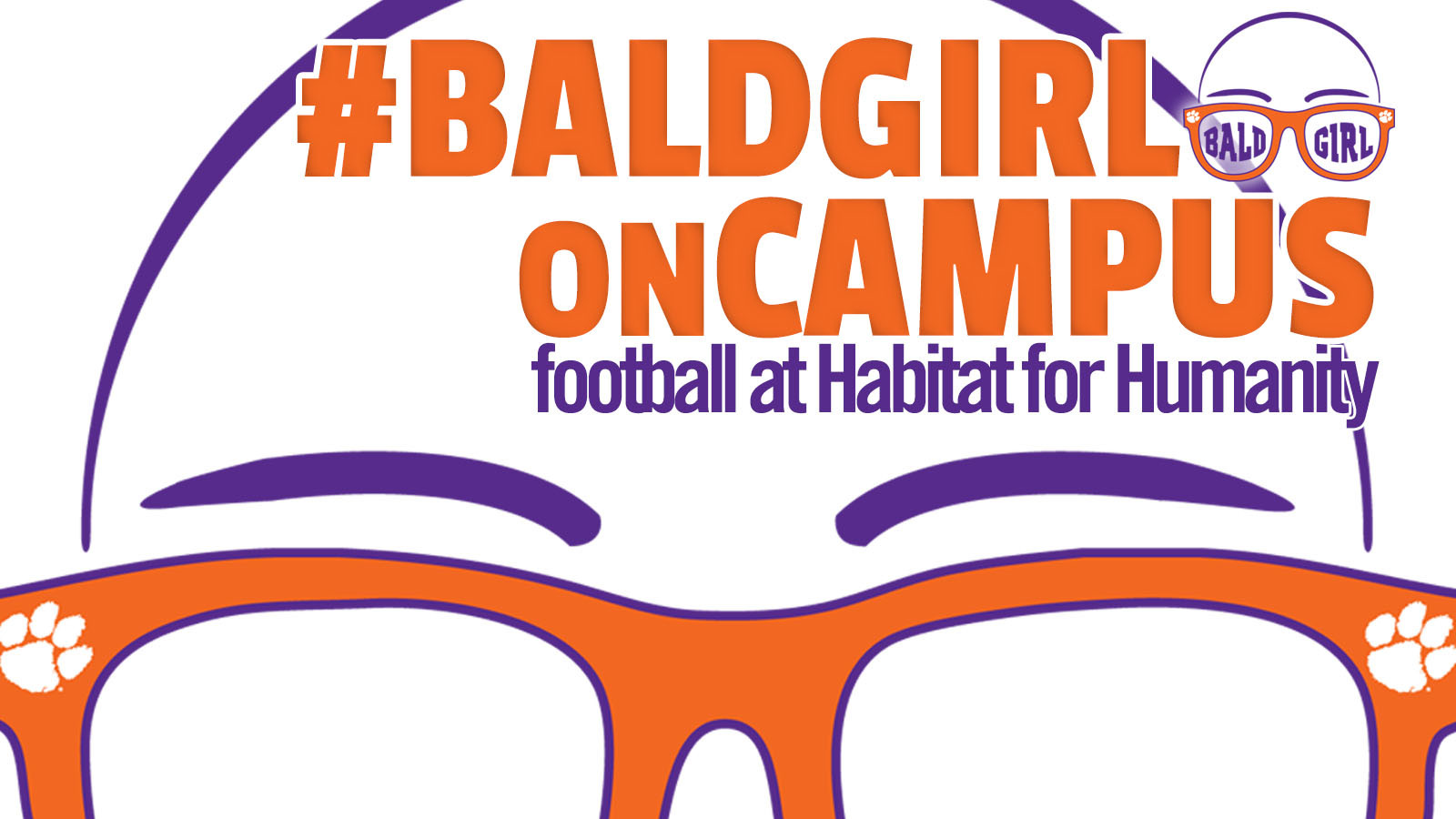 ClemsonTigers.com's Bald Girl on Campus: Football at Habitat for Humanity
