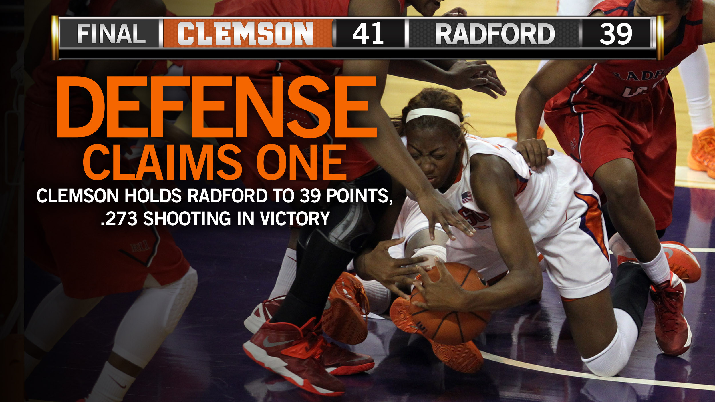 @ClemsonWBB Wins in a Defensive Struggle Wednesday Night
