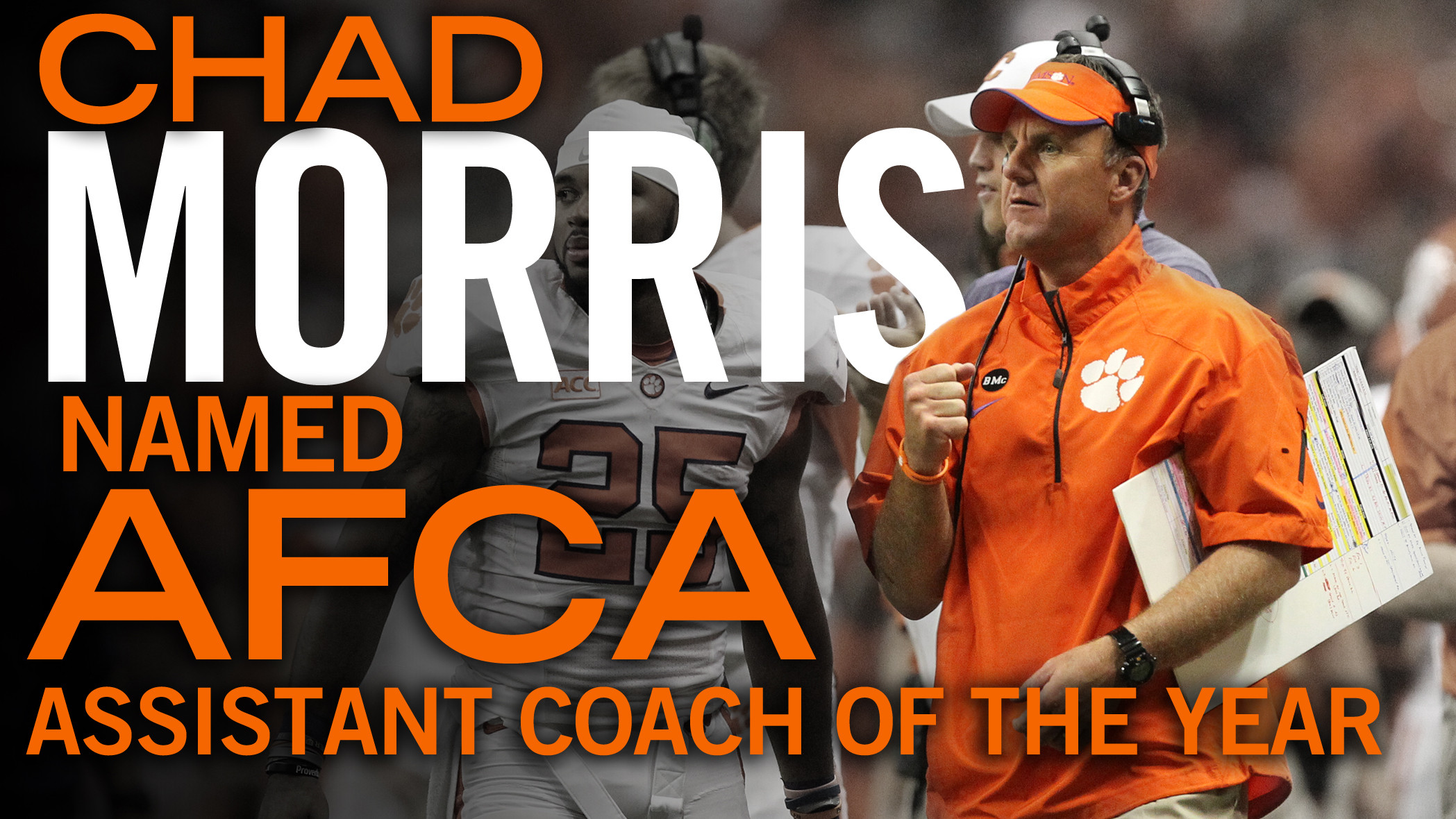 Morris Named National Assistant Coach of the Year by AFCA