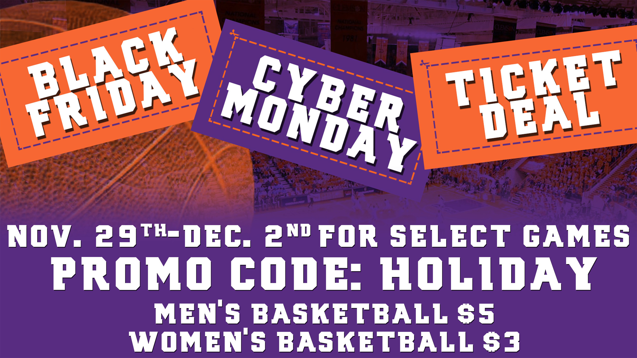 Black Friday/Cyber Monday Ticket Deals Now Available