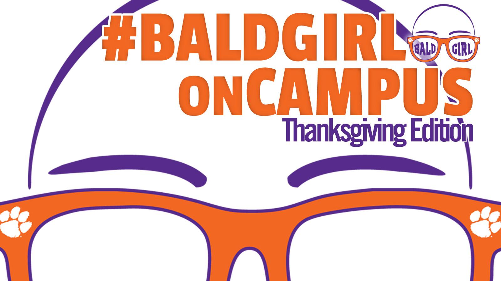 ClemsonTigers.com's Bald Girl on Campus: Thanksgiving
