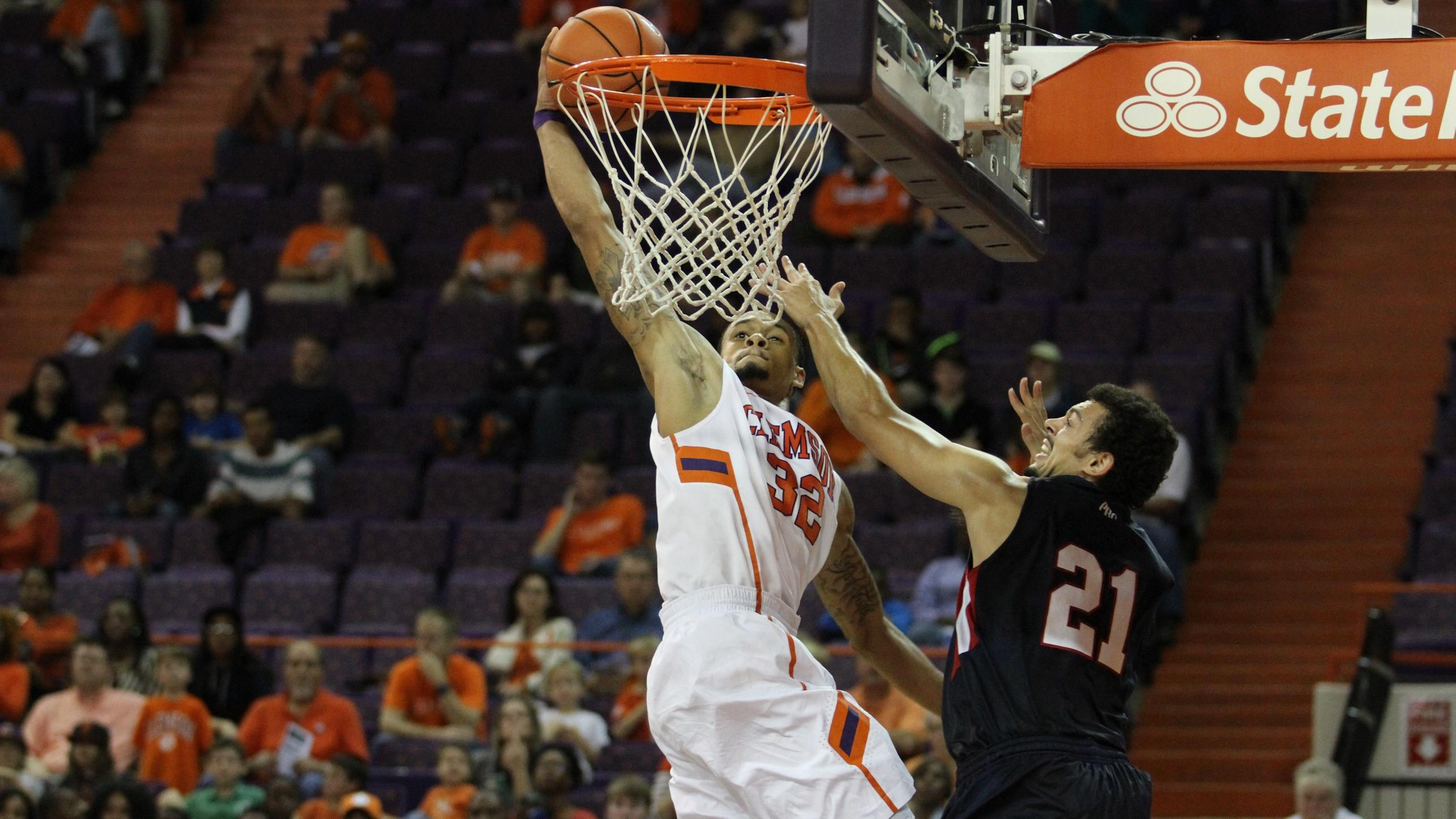 Clemson Eases Past Francis Marion in Exhibition Win, 98-44