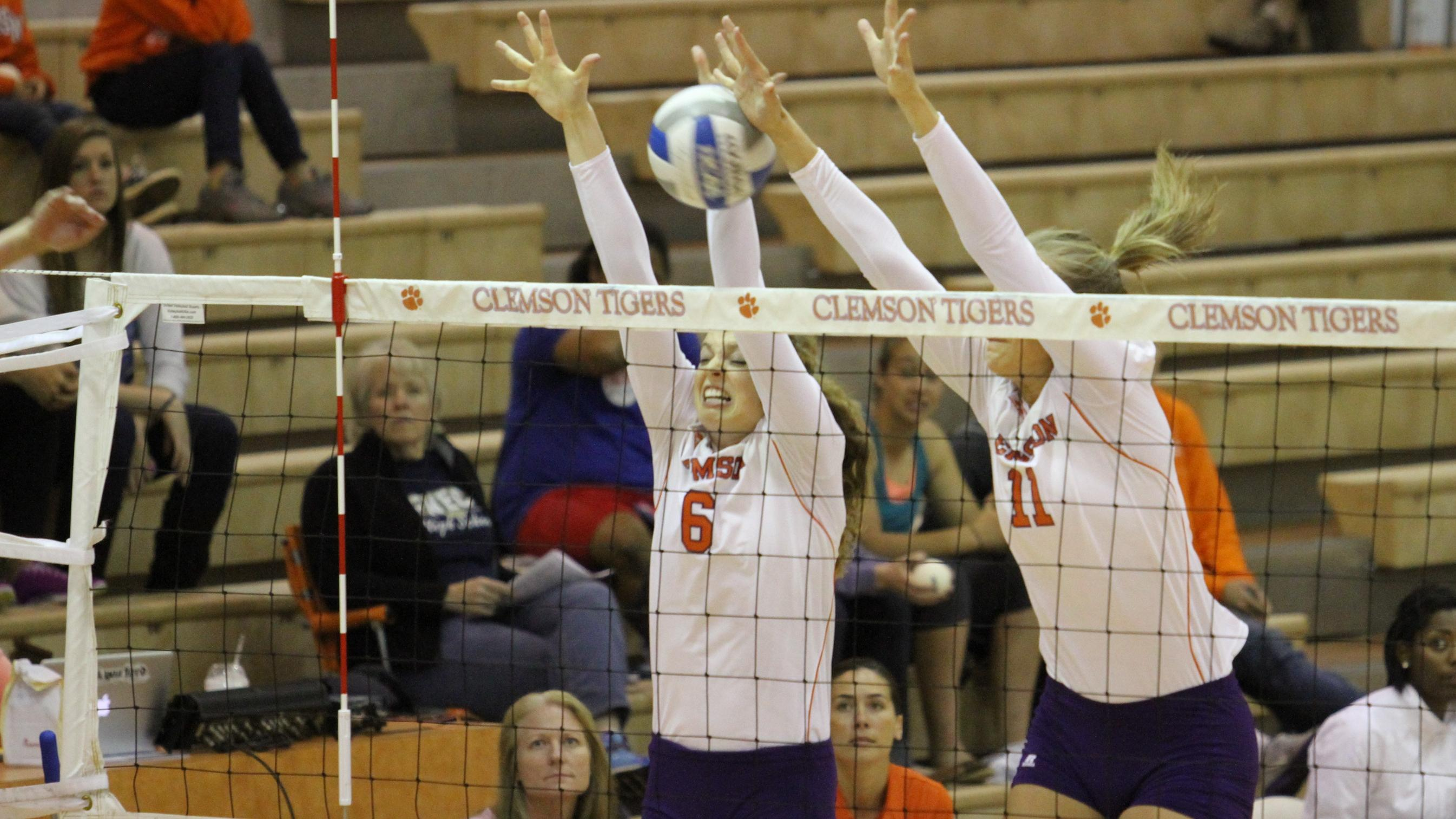 @ClemsonVB Spring Exhibition Schedule Starts Tuesday at 5 p.m.