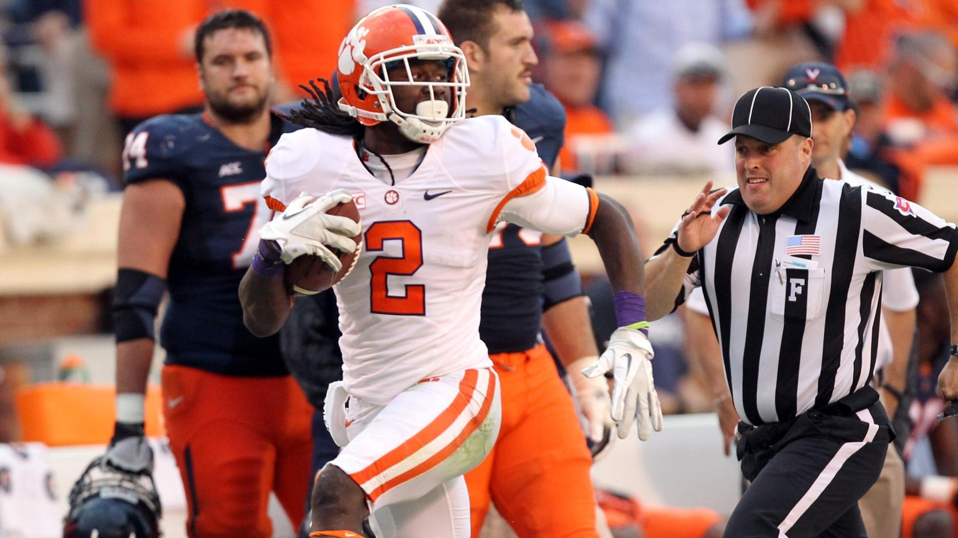 Watkins' Big Plays Help Tigers Roll at Virginia
