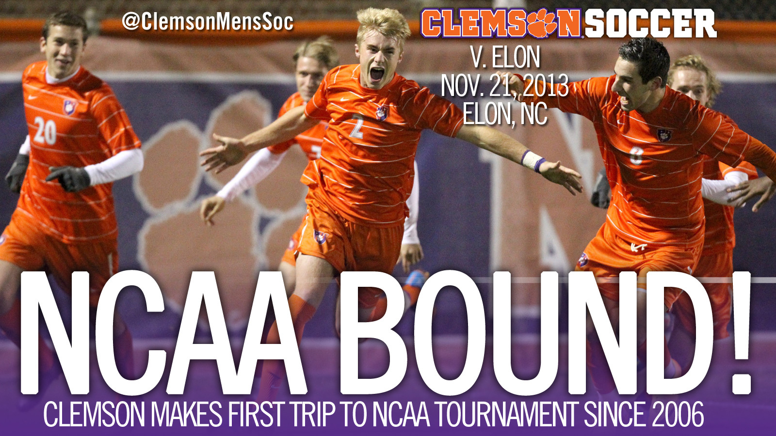 Clemson Men?s Soccer Receives NCAA Tournament Bid