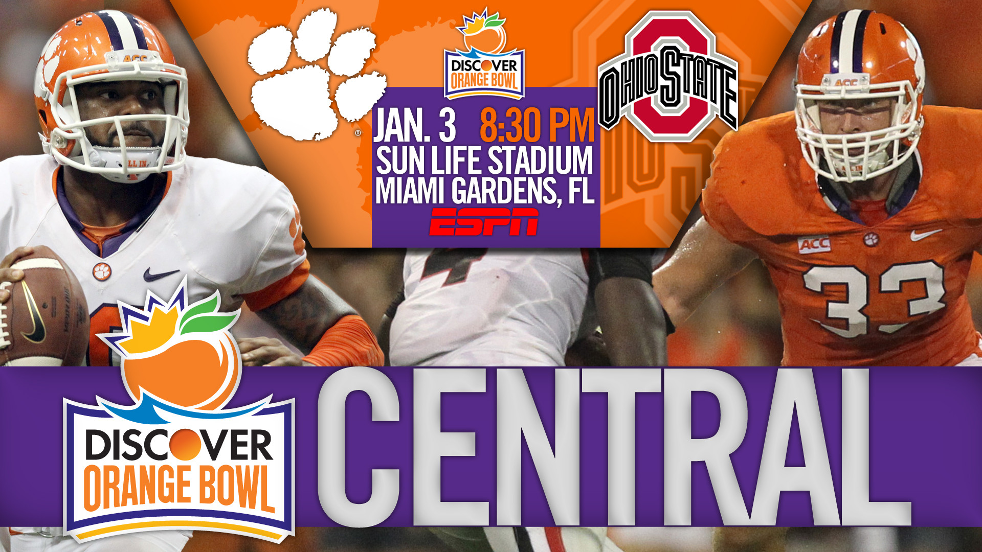 COPY – Clemson vs. Ohio State, 2014 Discover Orange Bowl Central