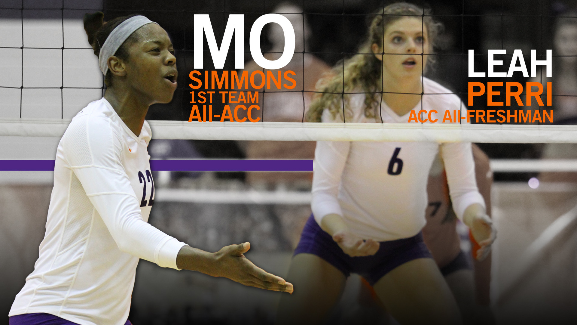 @ClemsonVB: Simmons Named to All-ACC 1st Team; Perri All-Freshman