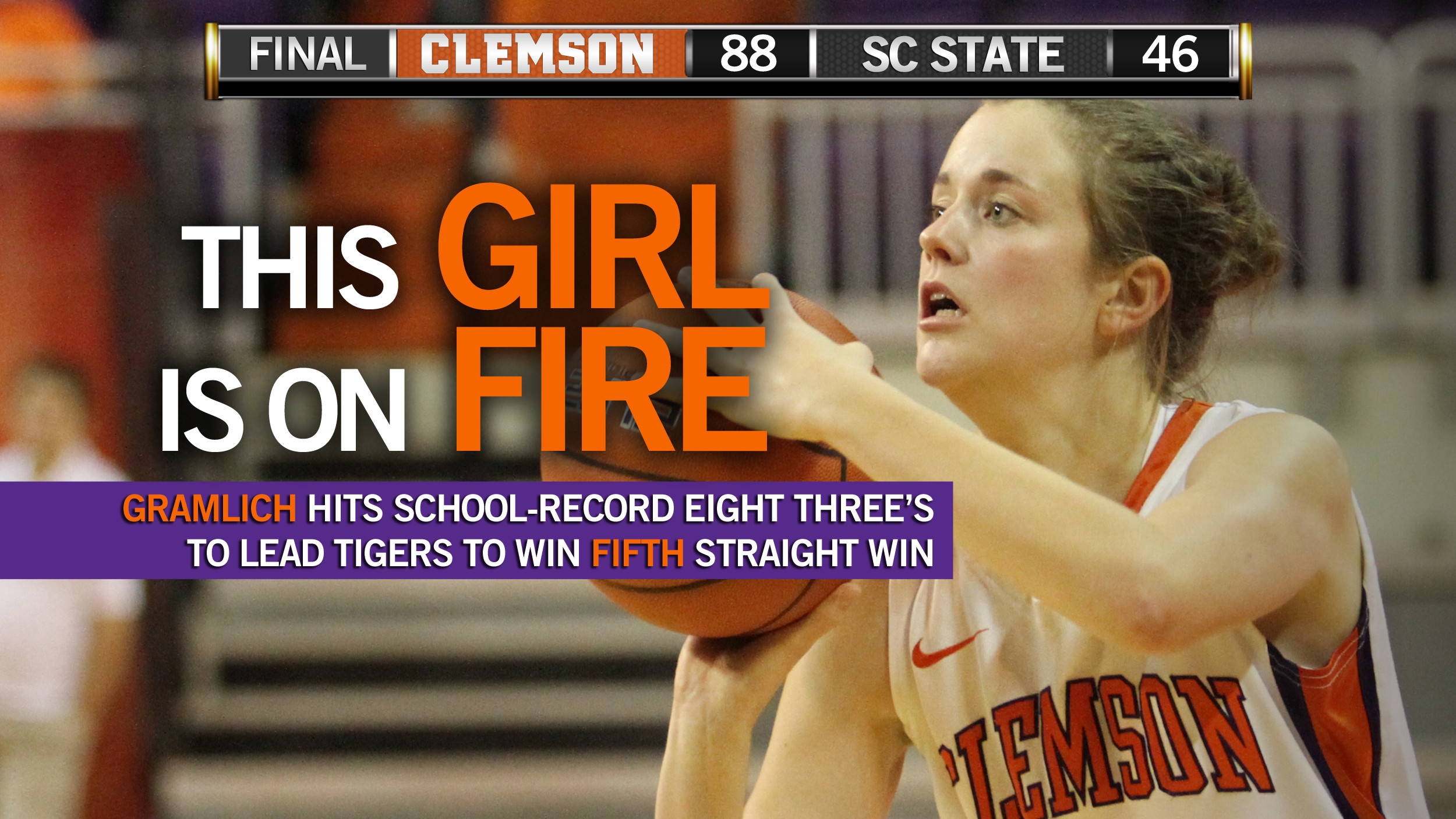 Kelly Gramlich?s Record-Setting Day Sparks @ClemsonWBB
