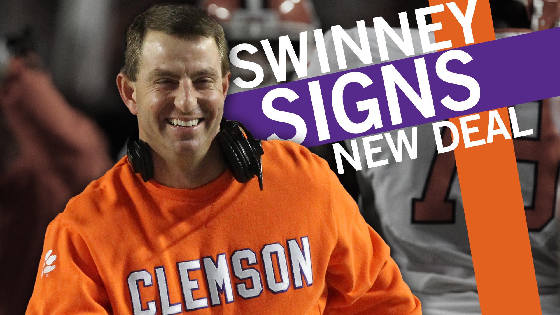 Clemson, Coach Swinney Agree to New Contract