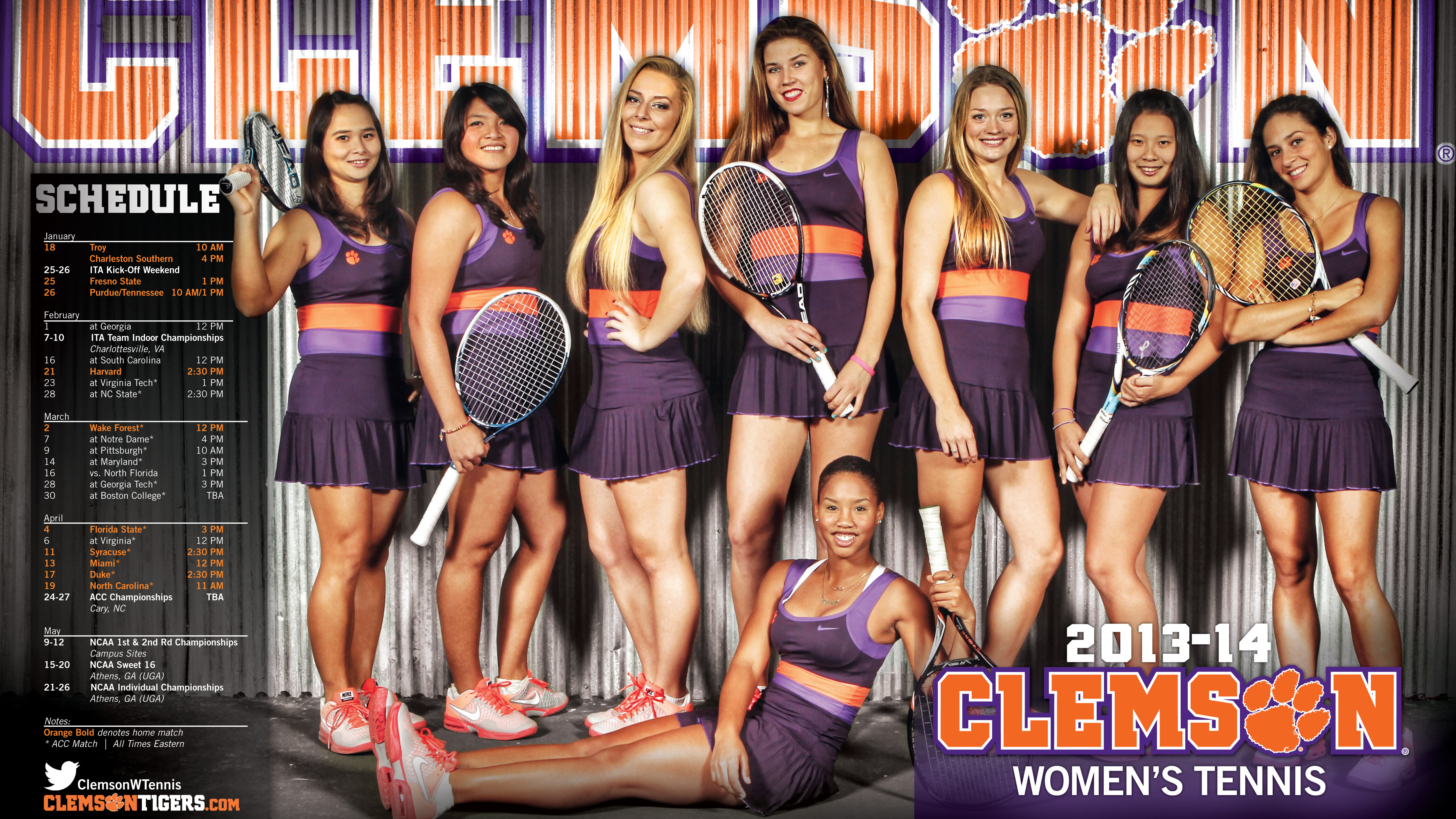 @ClemsonWTennis Ranked 13th in ITA Preseason Poll