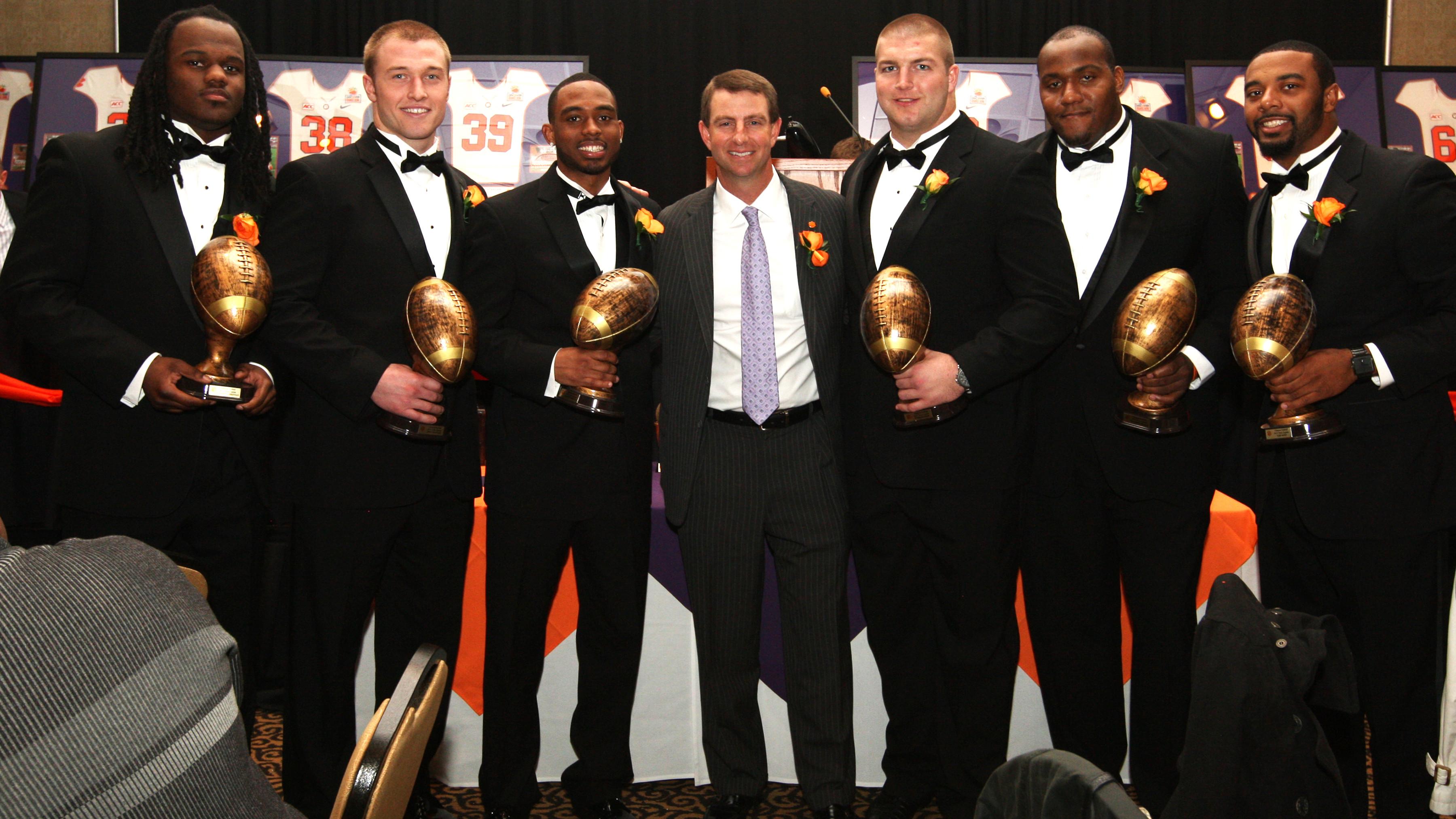 Clemson Holds Football Awards Banquet