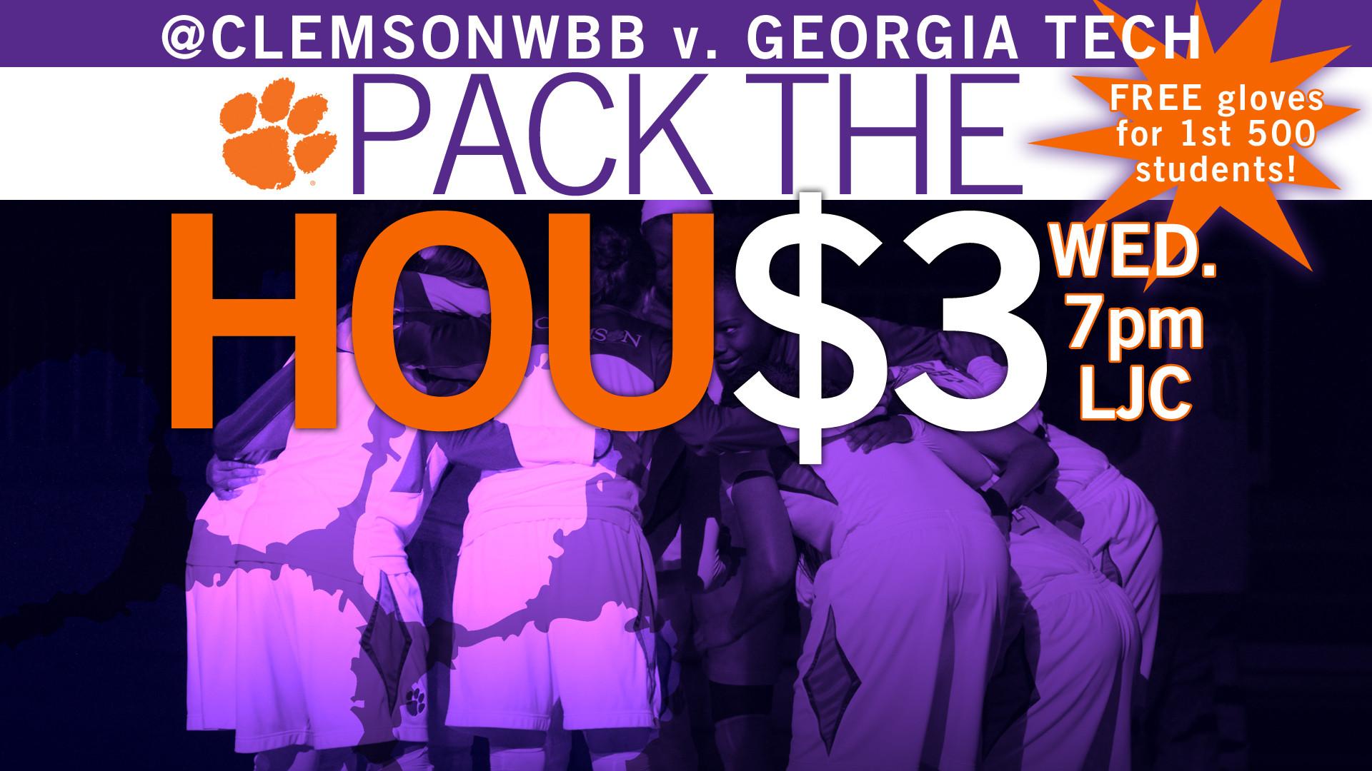 @ClemsonWBB Meets Georgia Tech on Wed. at 7 p.m.