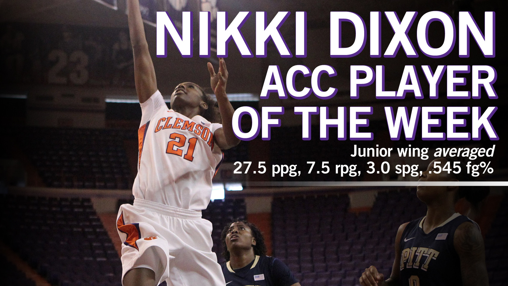 Nikki Dixon Earns @ACCwbb Player of the Week Honors