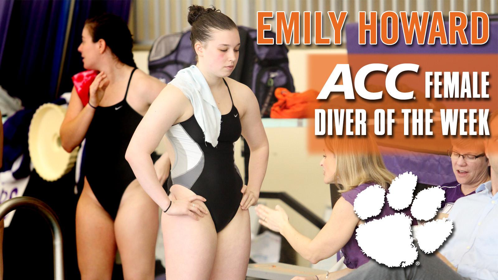 Howard Named ACC Female Diver-of-the-Week
