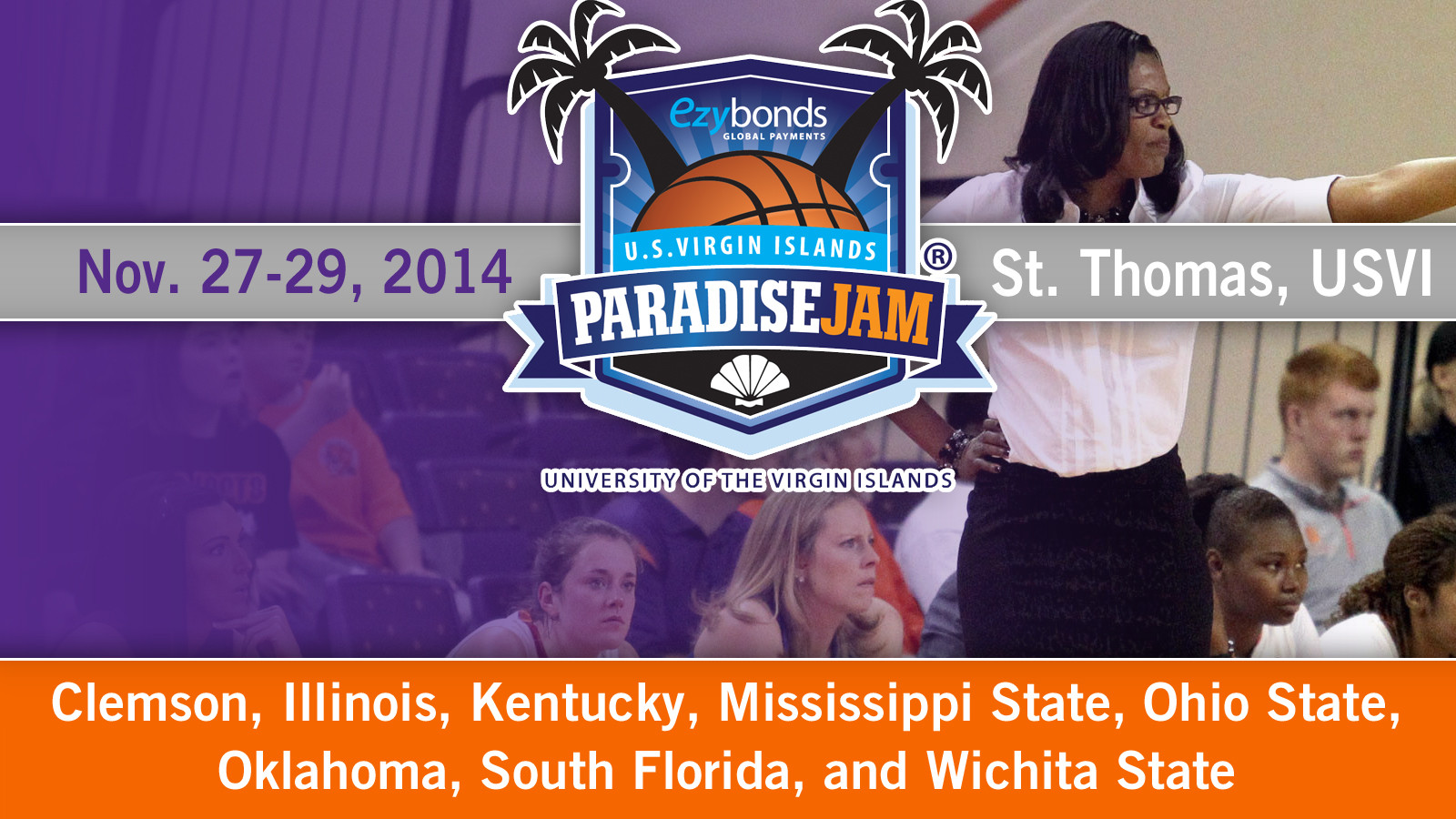 @ClemsonWBB Headed to Paradise Jam in 2014-15