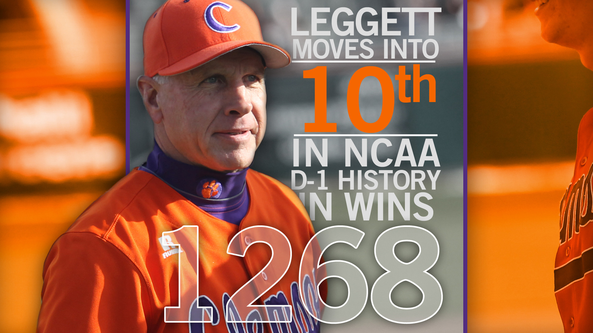 Leggett Moves Into Top 10 in Career Wins With #13 Clemson's 13-3 Win Over Maine Saturday