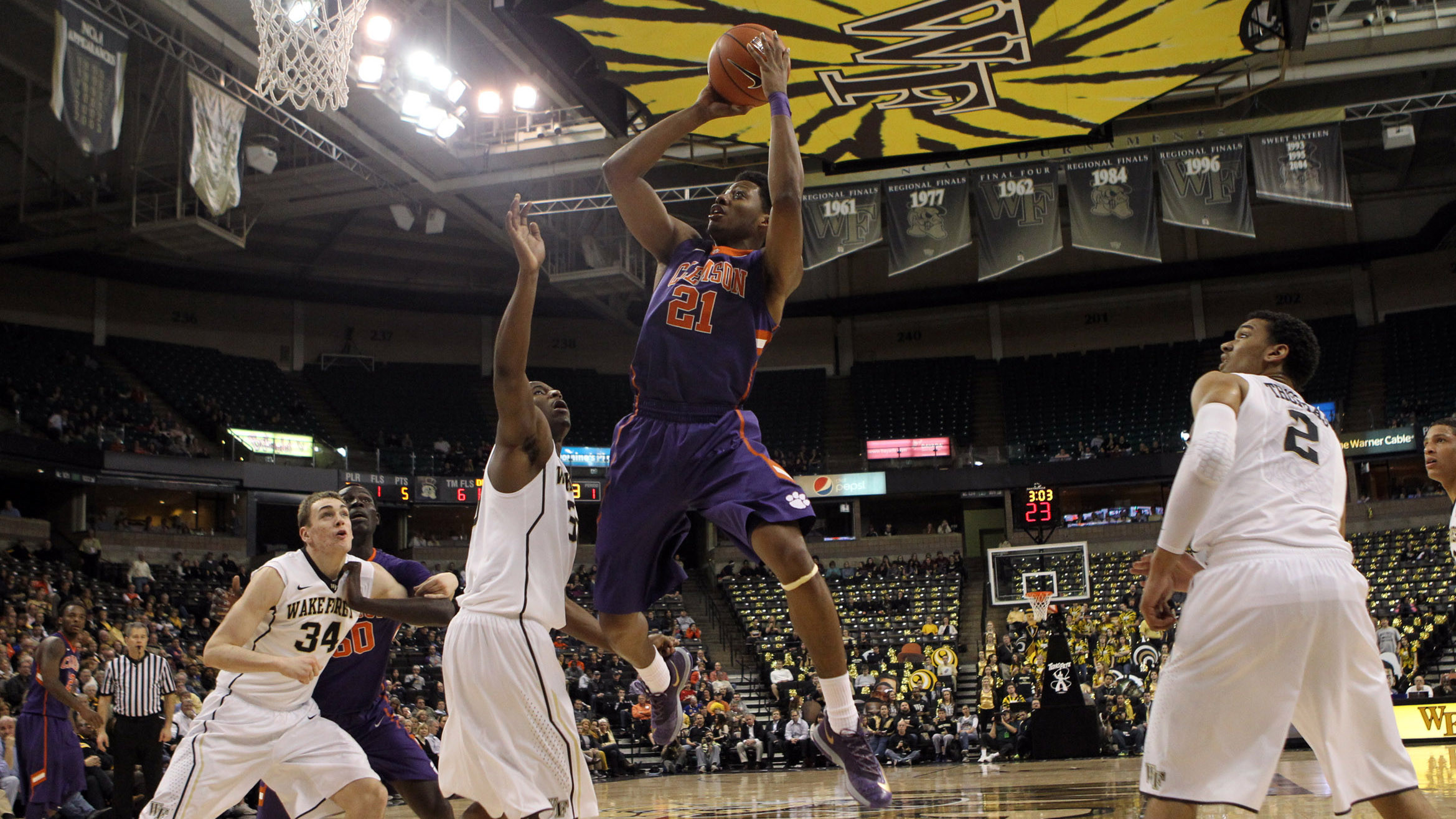 Clemson Drops Final ACC Road Game of Season to Wake Forest, 62-57