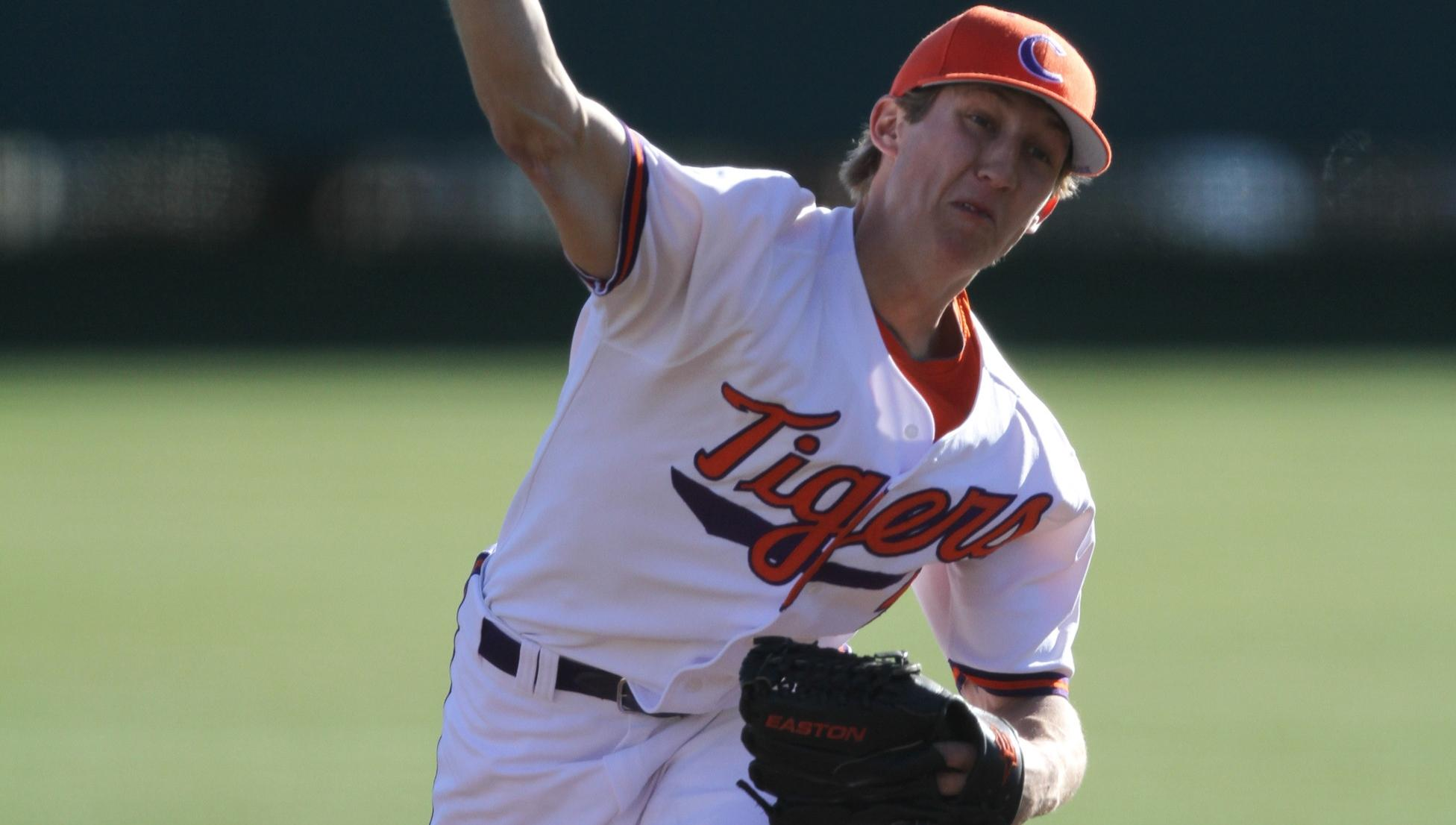 Gossett Pitches #13 Tigers Past Maine 5-2 Friday