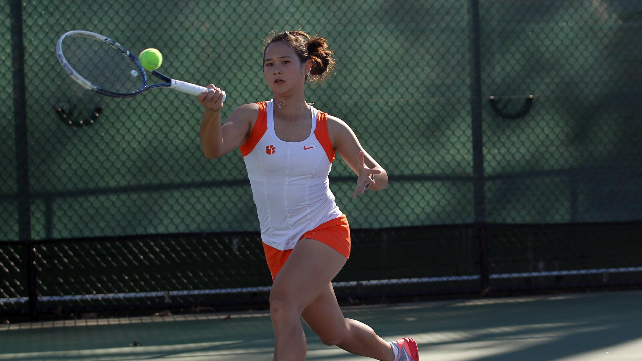 No. 15 @ClemsonWTennis 4-0 in ACC Play After Win at Notre Dame Friday
