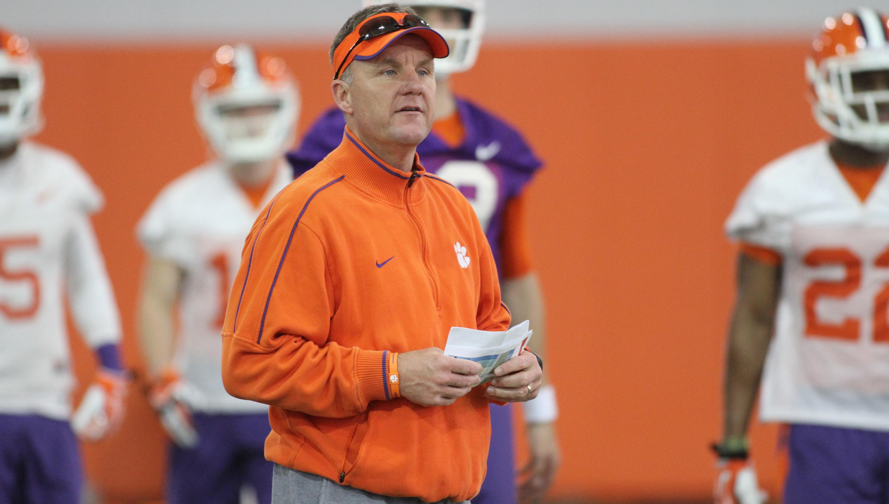 Clemson Holds Seventh Practice Wednesday