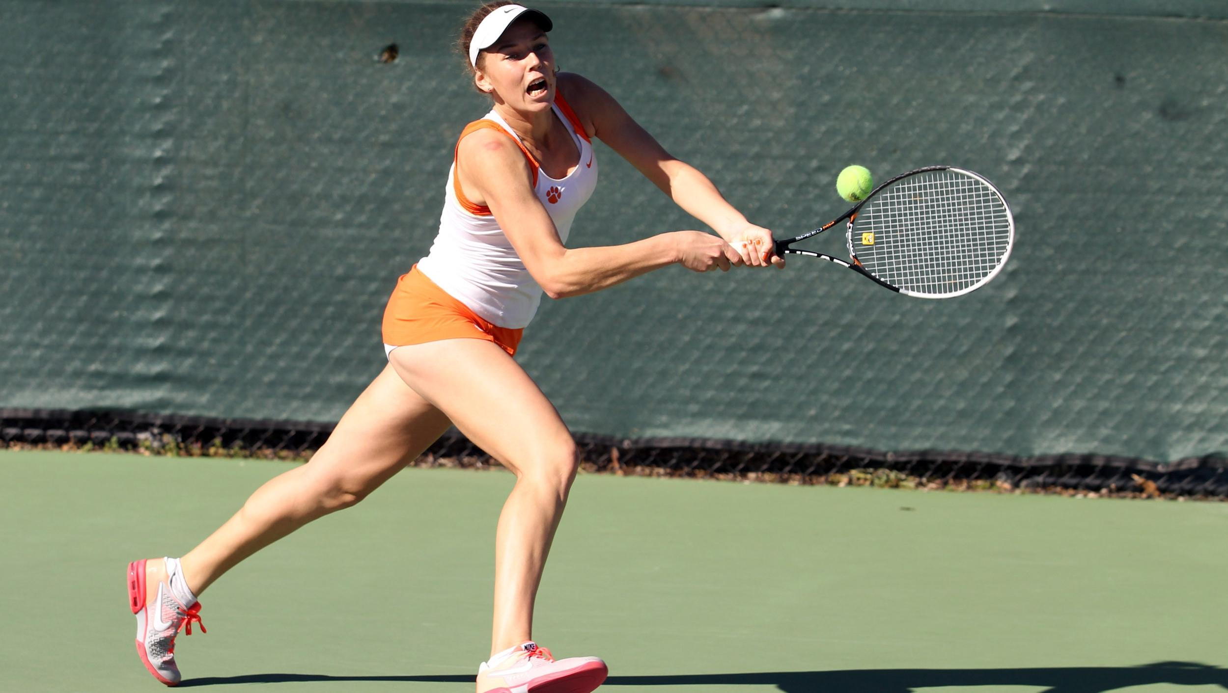 No. 15 @ClemsonWTennis Takes Down NC State, 7-0