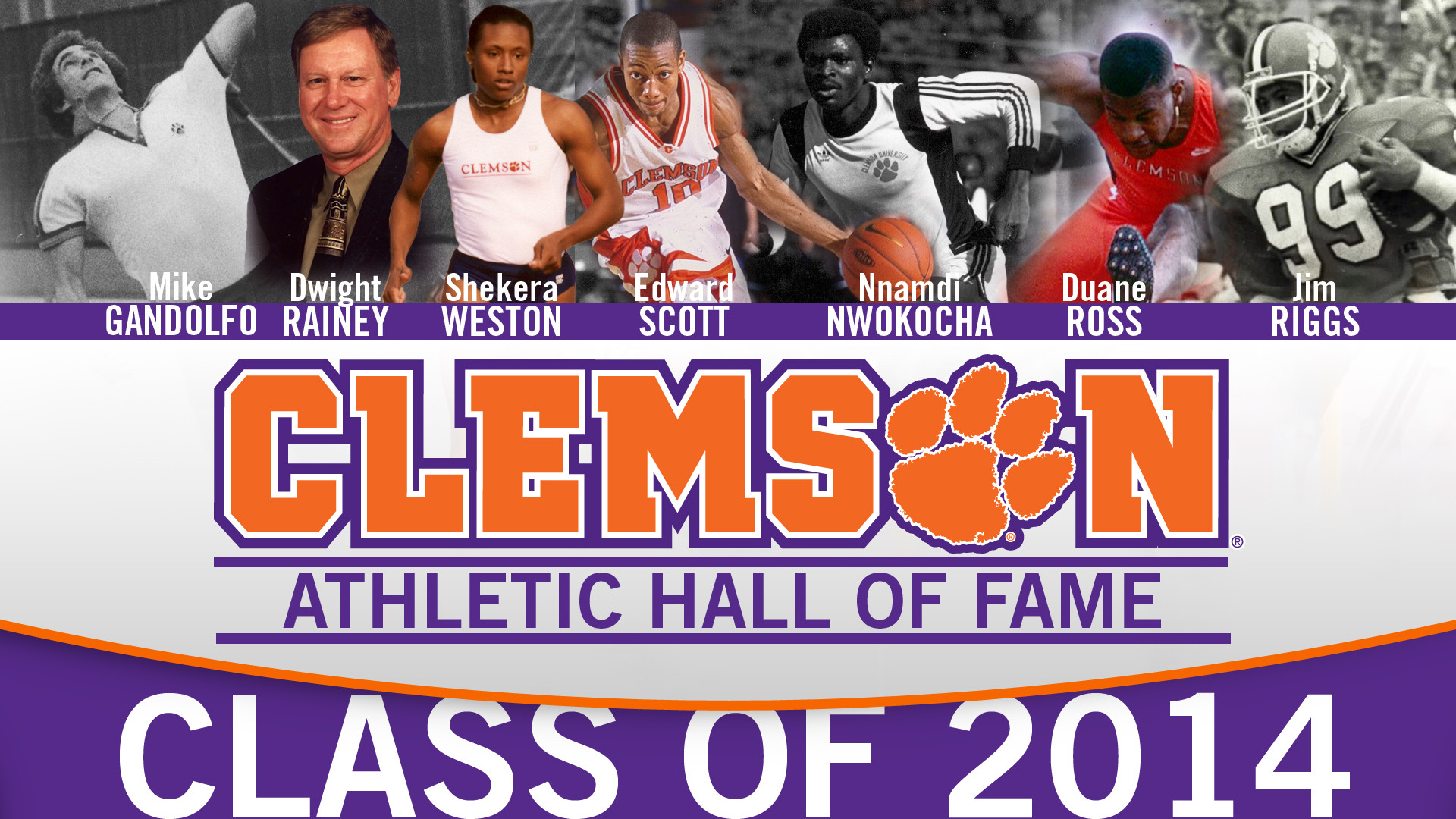 Clemson Athletic Hall of Fame to Induct Seven in 2014