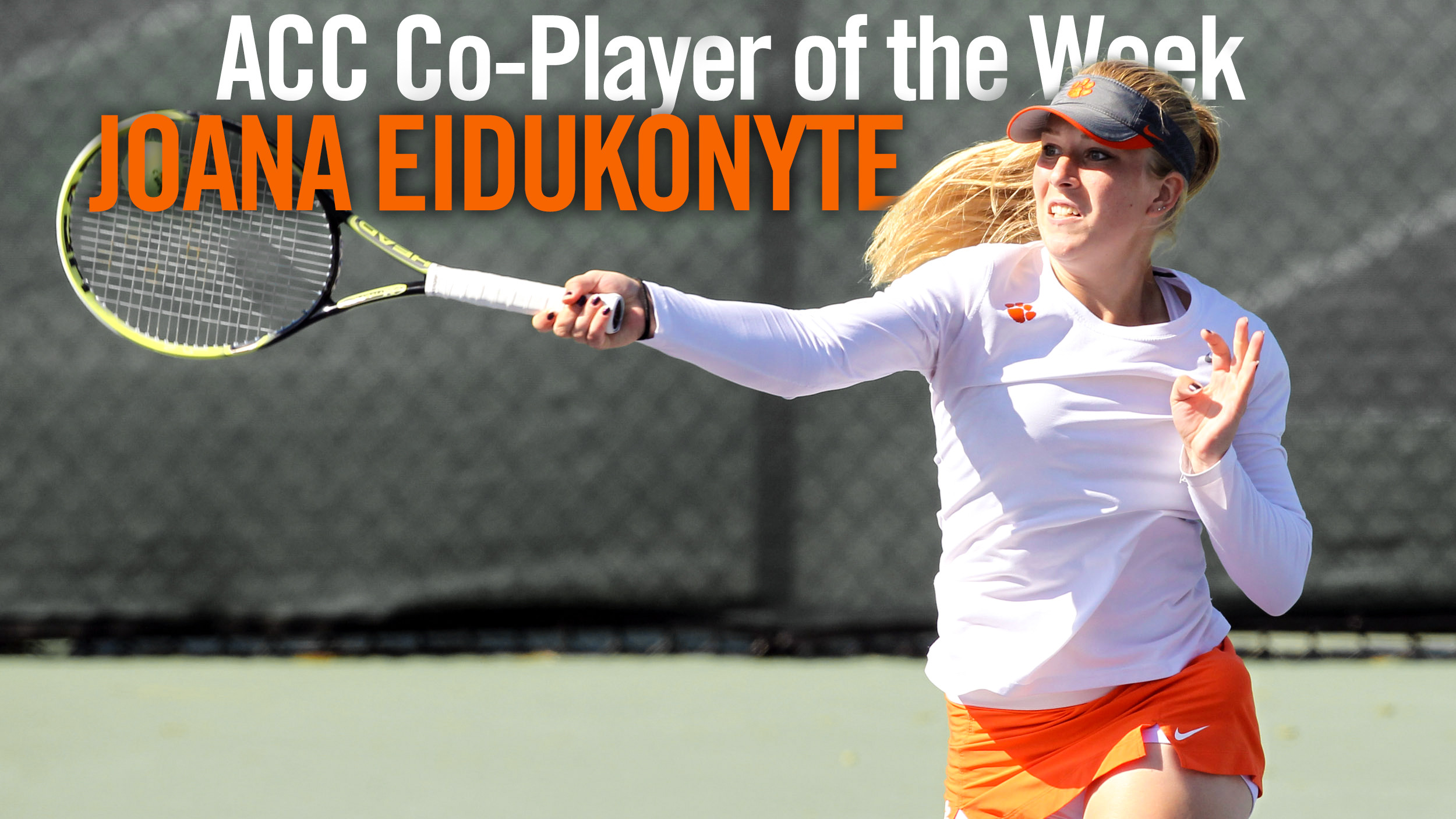 Eidukonyte Named ACC Co-Player of the Week