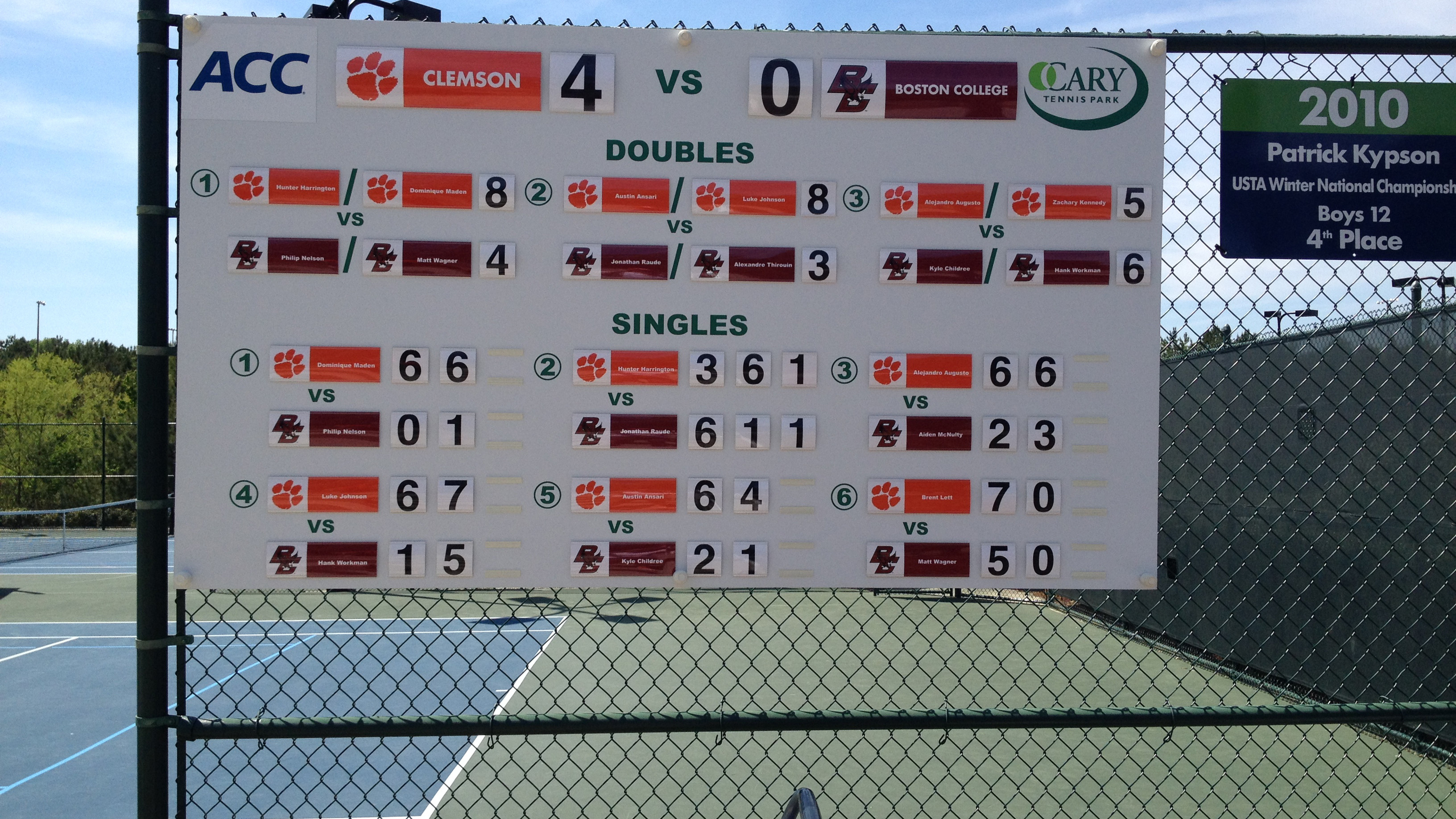 #16 Tigers Defeat Boston College 4-0 in ACC Tournament First Round