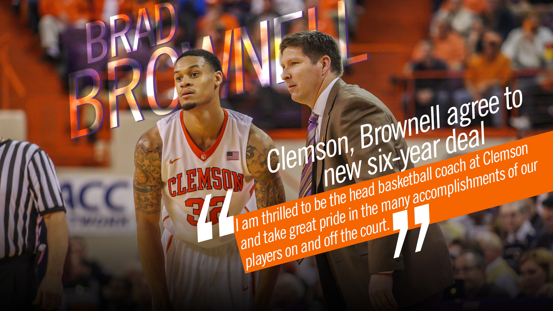 Clemson, Brad Brownell Agree to New Contract Terms