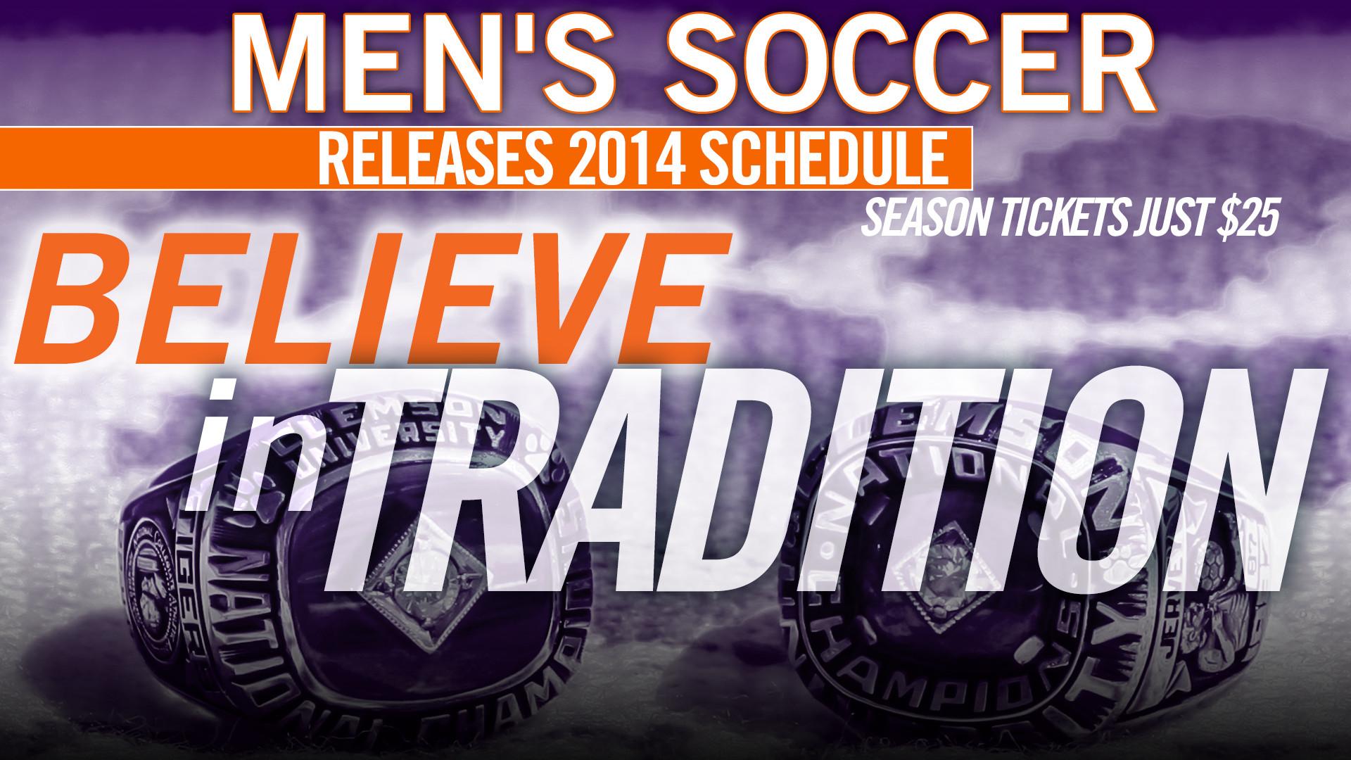 Clemson Men?s Soccer 2014 Schedule Released