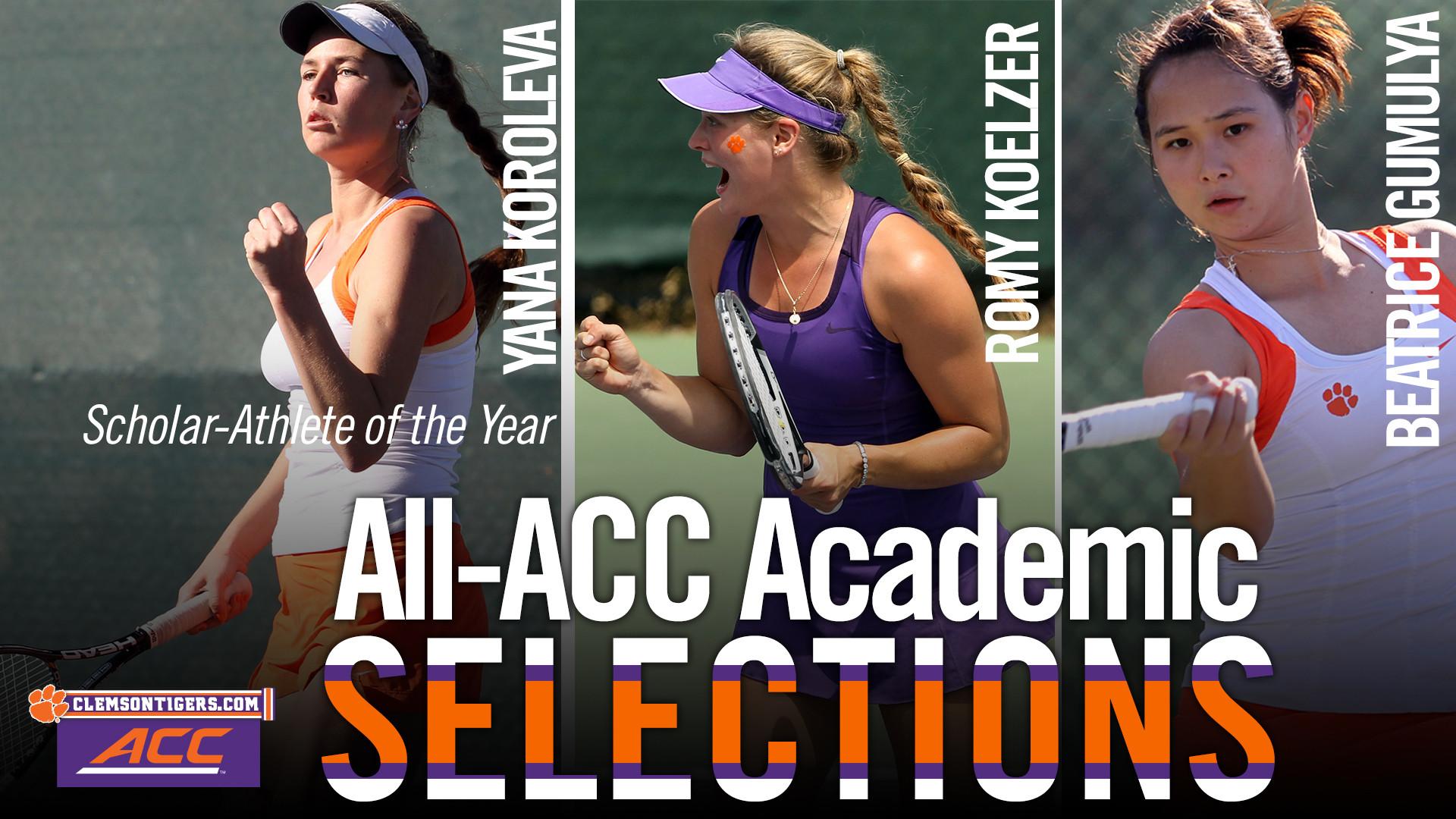 Koroleva Headlines All-ACC Academic Team as Scholar-Athlete of the Year