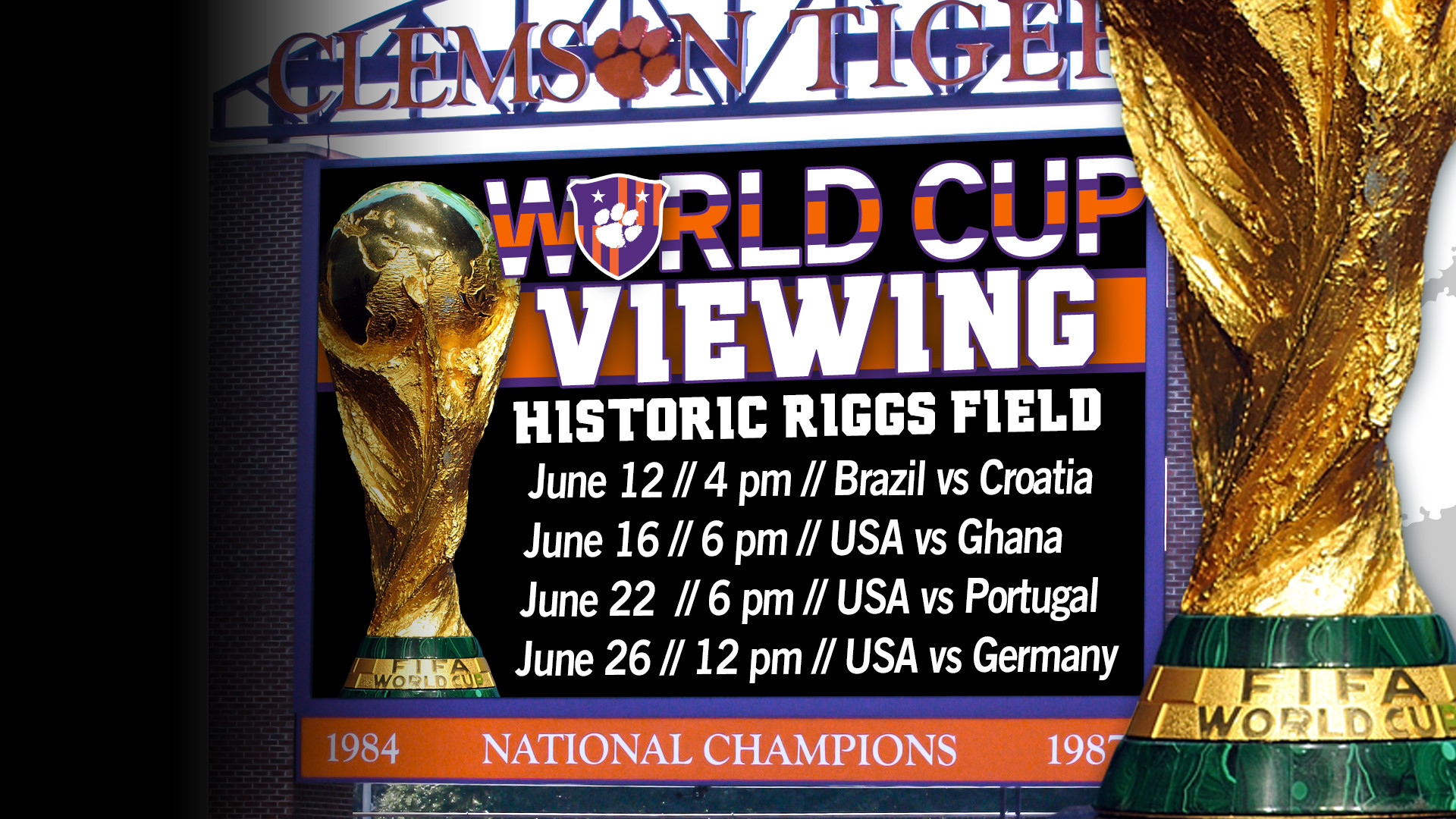 World Cup Viewing Parties at Riggs Field