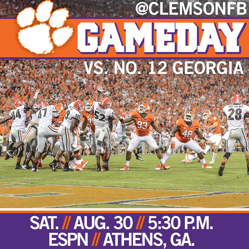 Clemson vs. Georgia Gameday Guide – Saturday, 5:30 p.m. – ESPN
