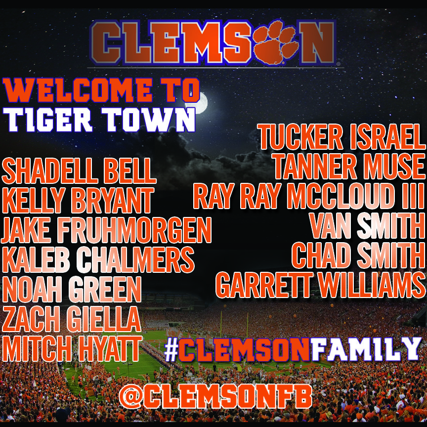 Football Players Join #ClemsonFamily