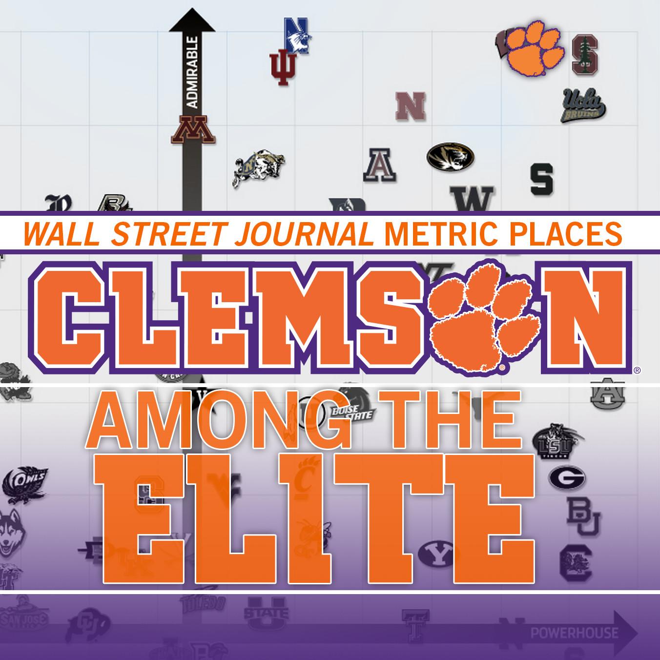 WSJ Ranks Clemson Among Best