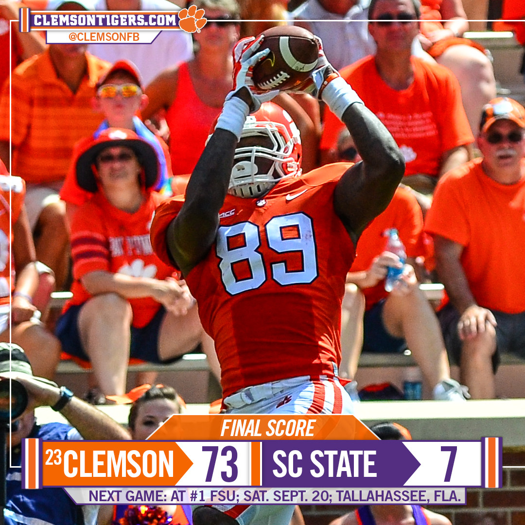 Tigers Cruise Past SC State 73-7