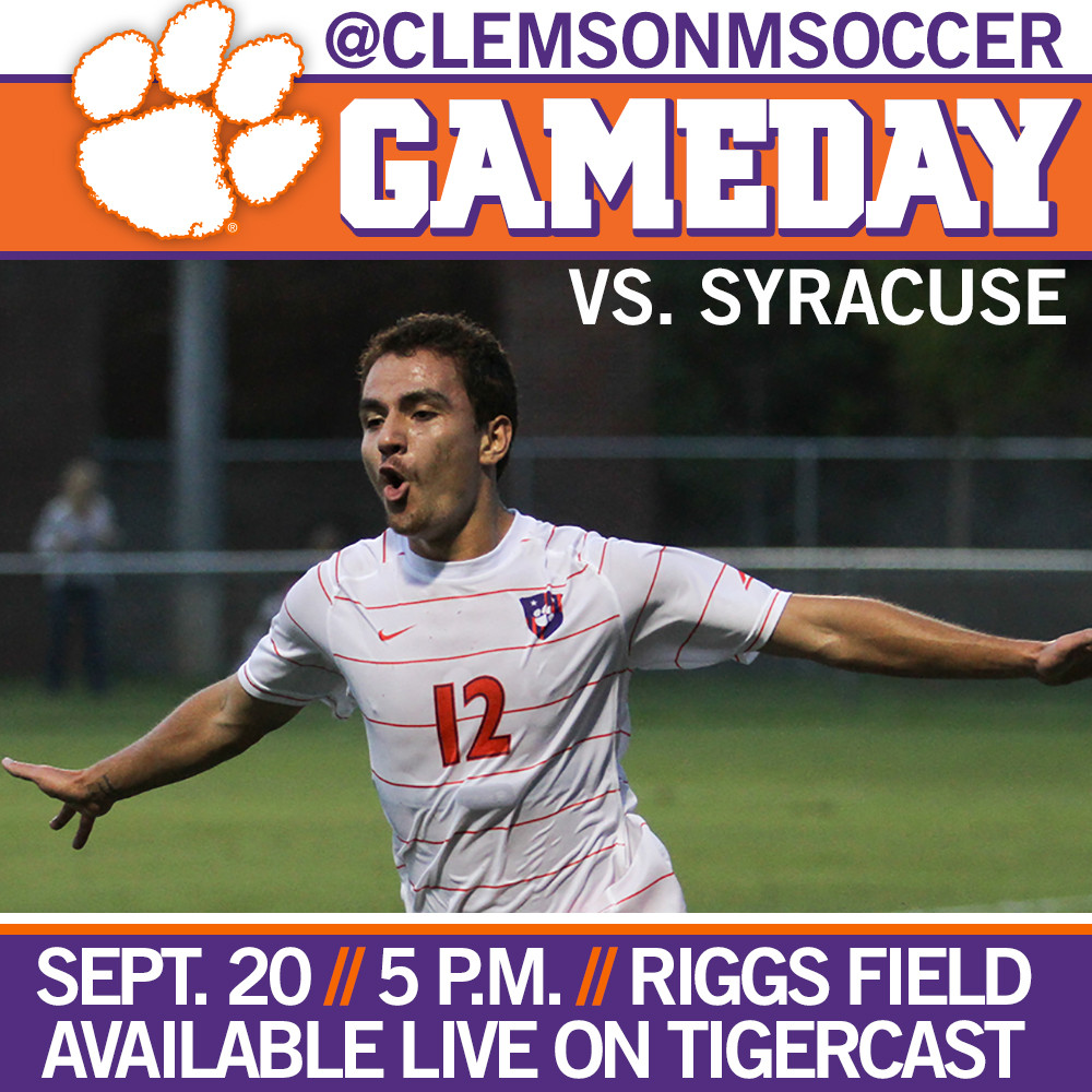 Clemson Hosts No. 14 Syracuse in ACC Home Opener Saturday at 5 p.m.