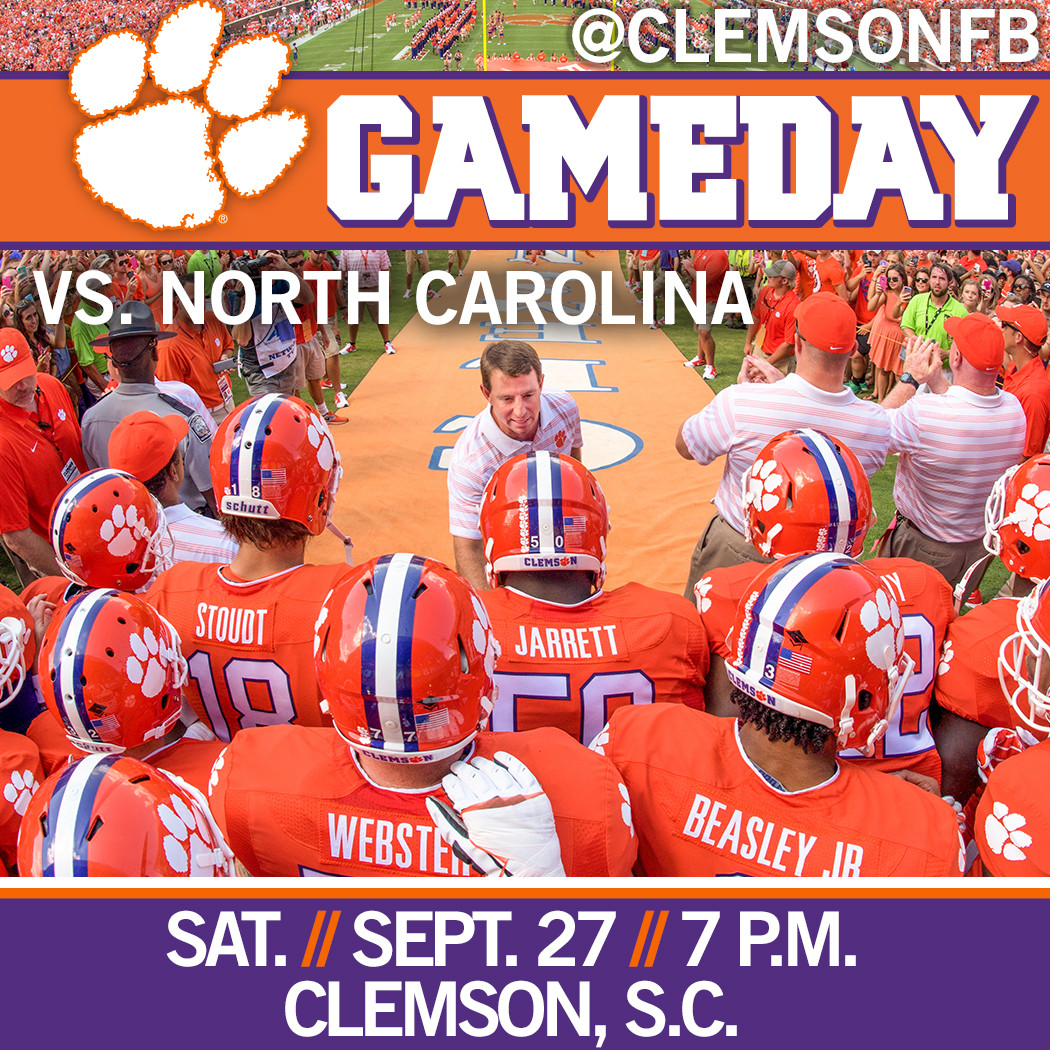 Clemson/UNC Gameday Guide
