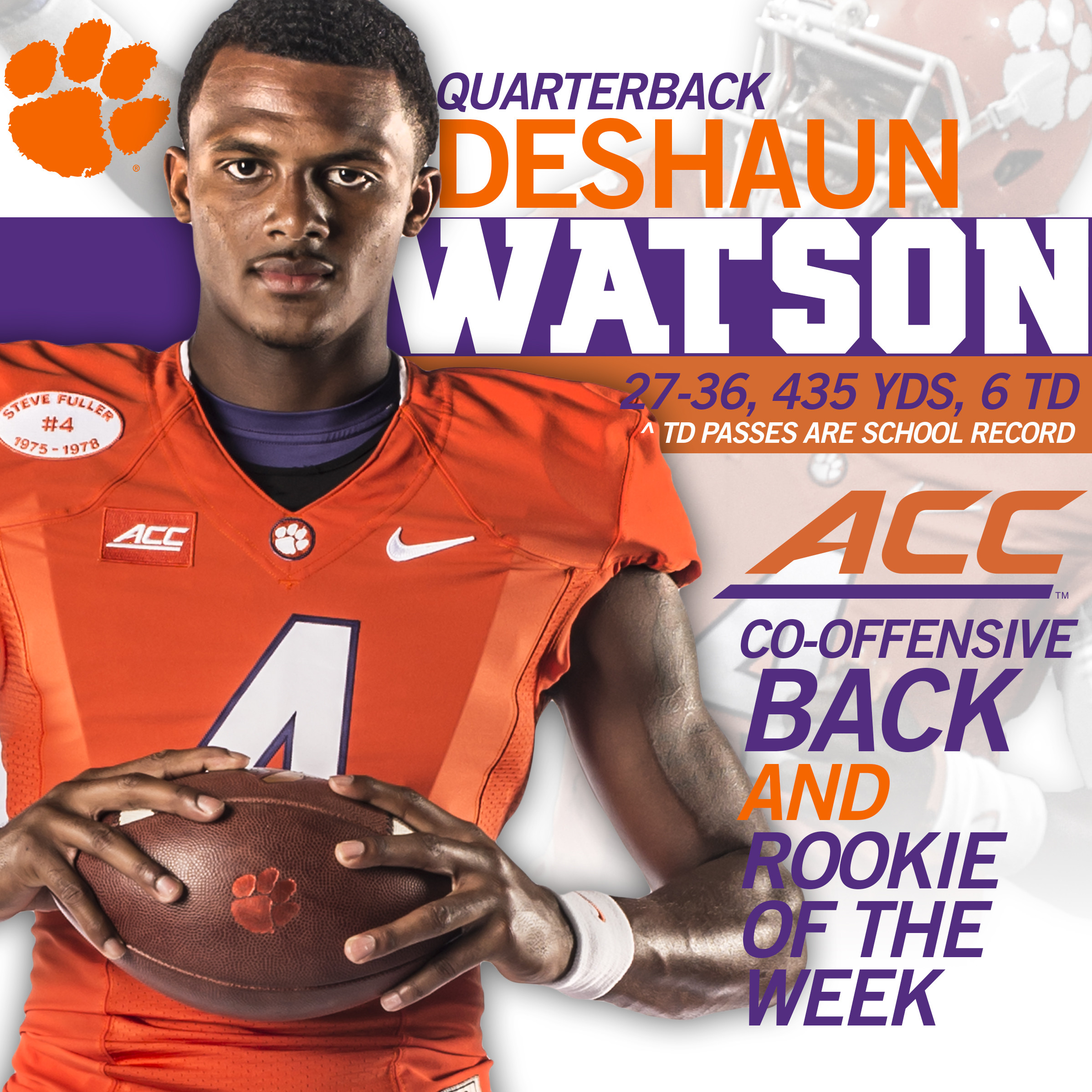 Watson, Pinion Honored By ACC