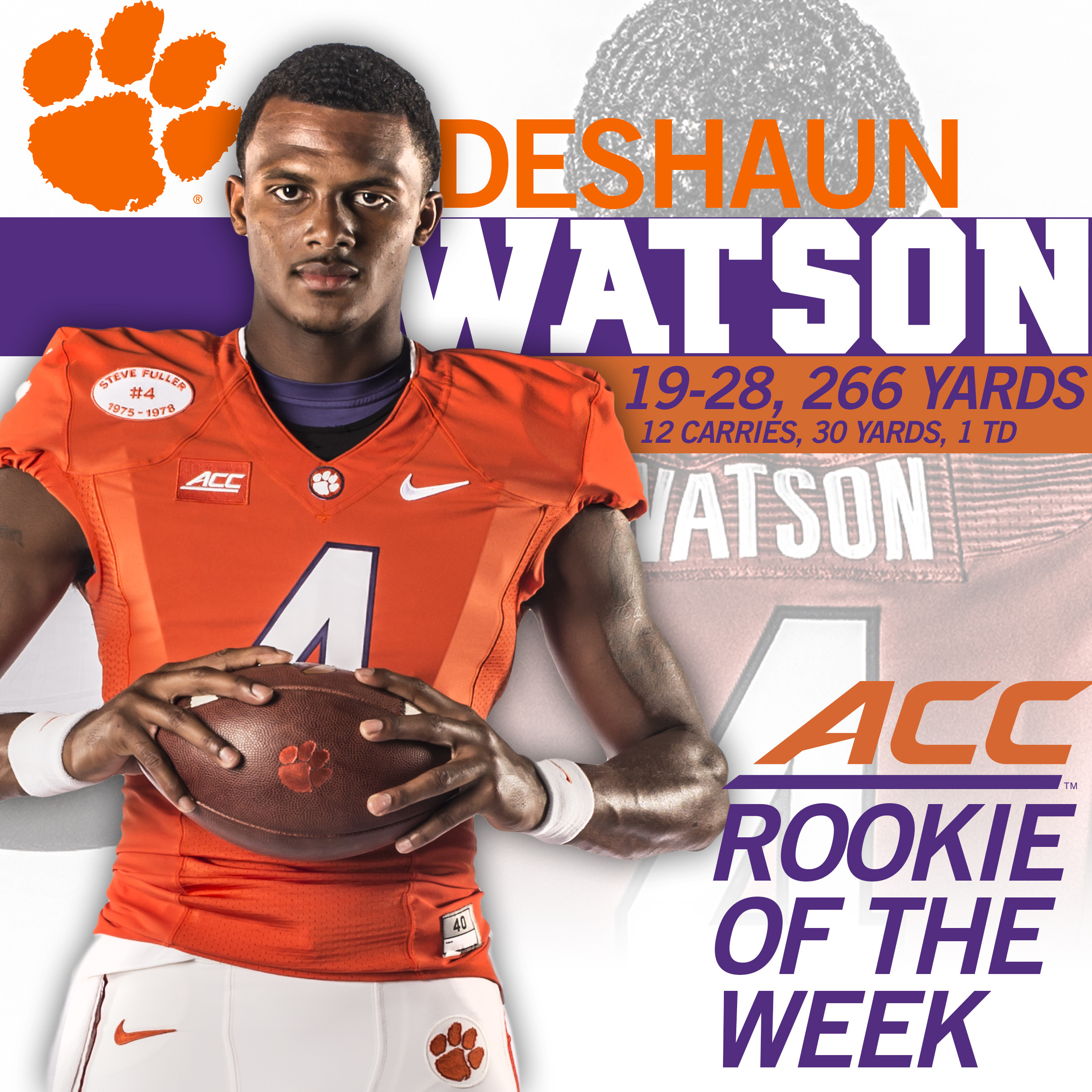 Watson named ACC Rookie of the Week