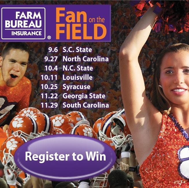 Register Now for Farm Bureau Insurance Fan on the Field Contest