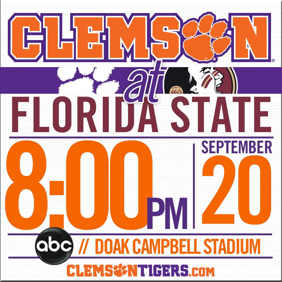 Clemson-FSU Set for 8 p.m. Kick on ABC