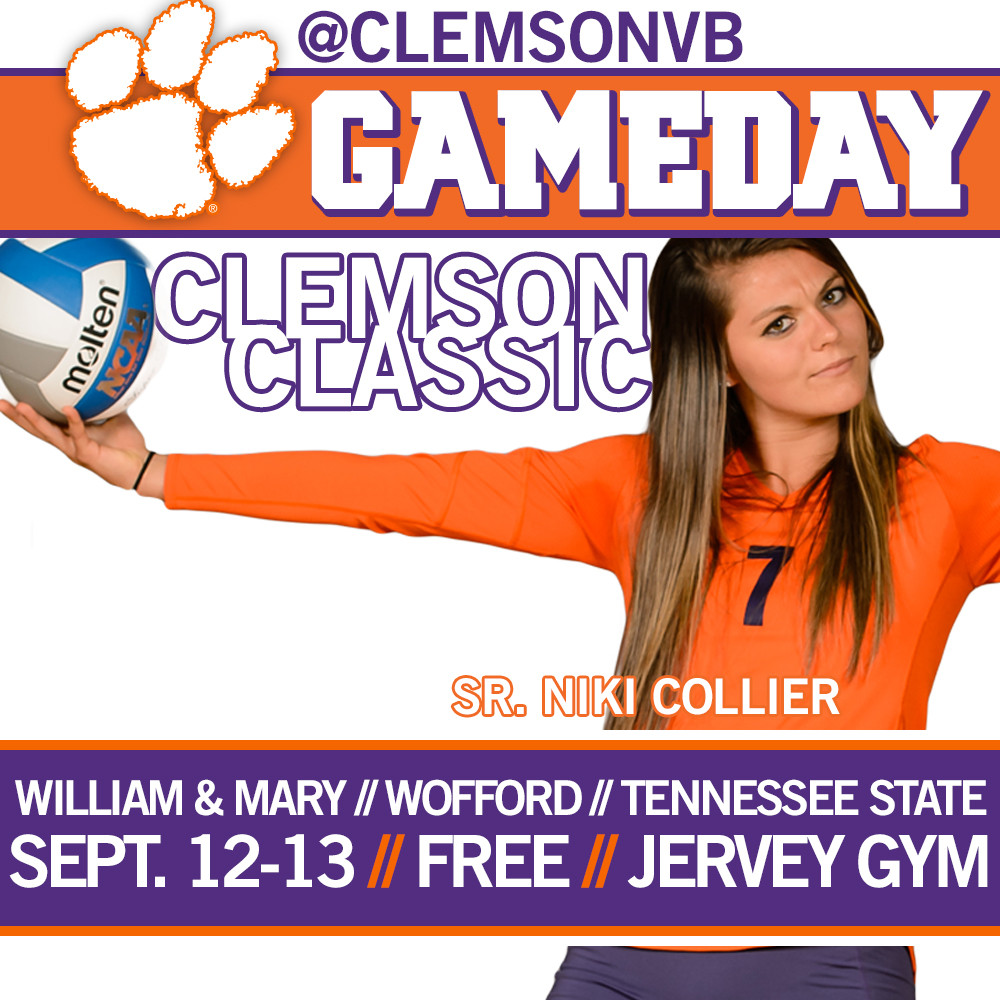 Volleyball Hosts Clemson Classic Friday & Saturday